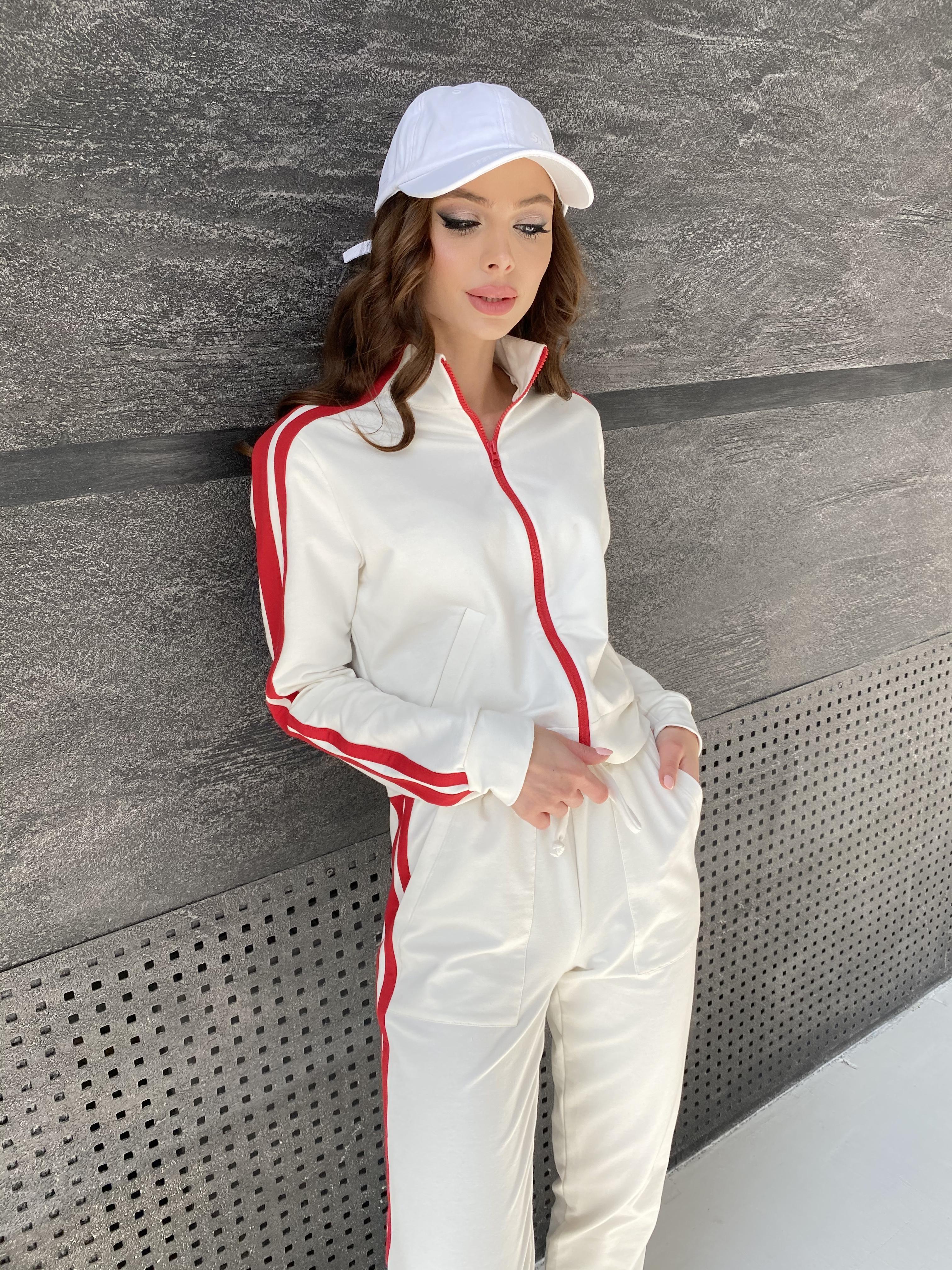 Камон костюм трикотажный из двунитки  9333 АРТ. 45761 Цвет: Молоко/красный - фото 6, интернет магазин tm-modus.ru