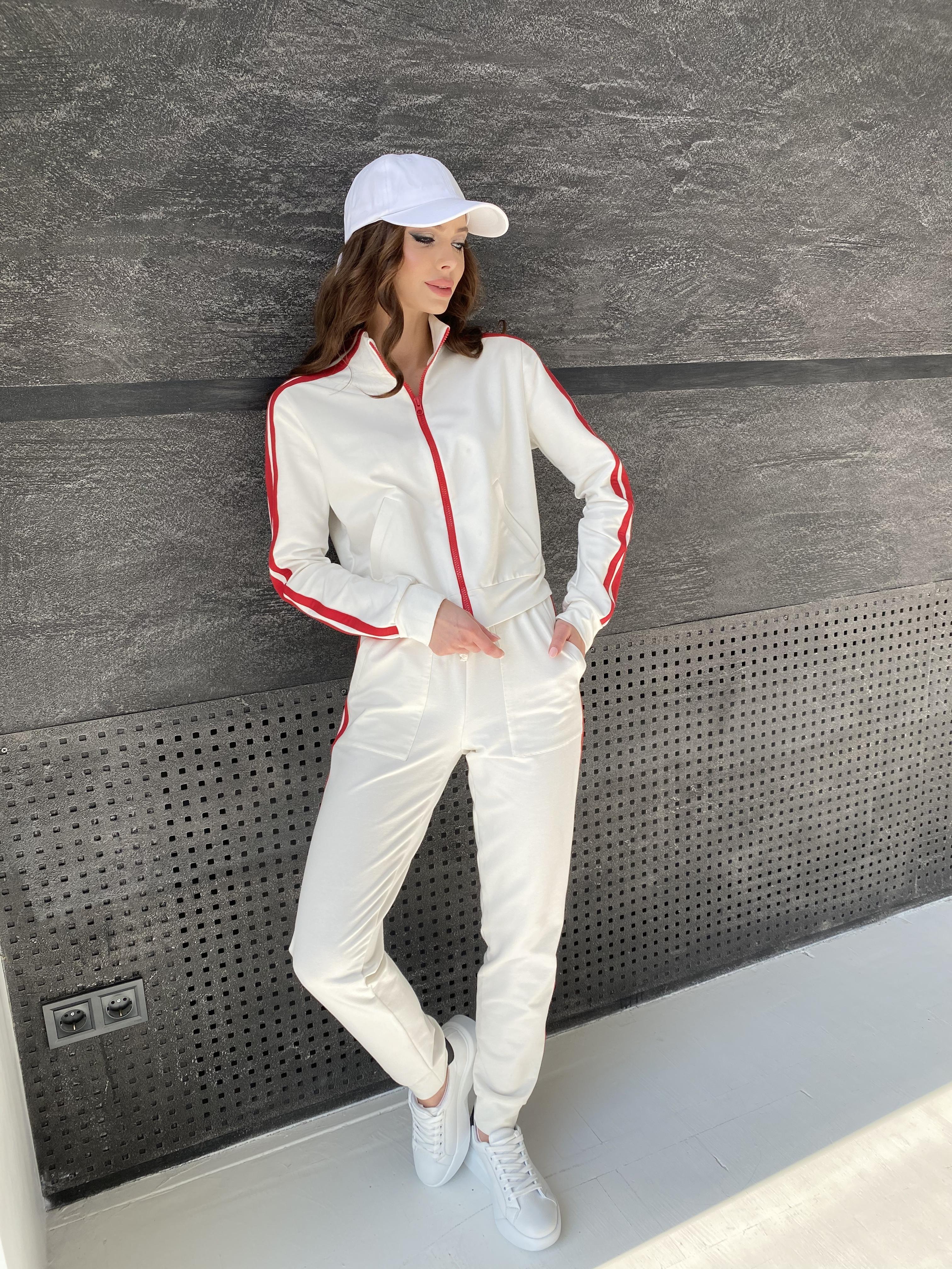 Камон костюм трикотажный из двунитки  9333 АРТ. 45761 Цвет: Молоко/красный - фото 7, интернет магазин tm-modus.ru