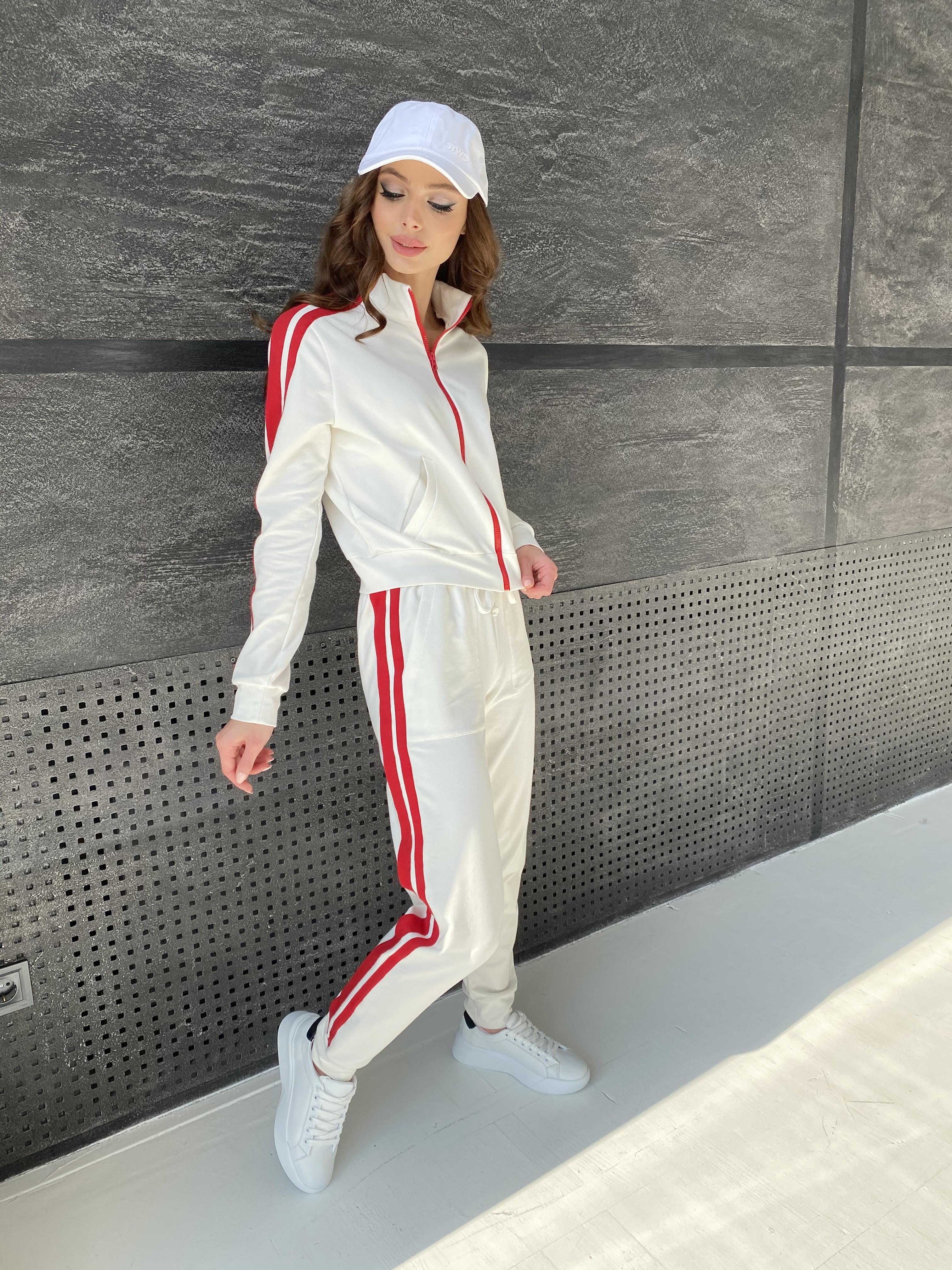 Камон костюм трикотажный из двунитки  9333 АРТ. 45761 Цвет: Молоко/красный - фото 8, интернет магазин tm-modus.ru