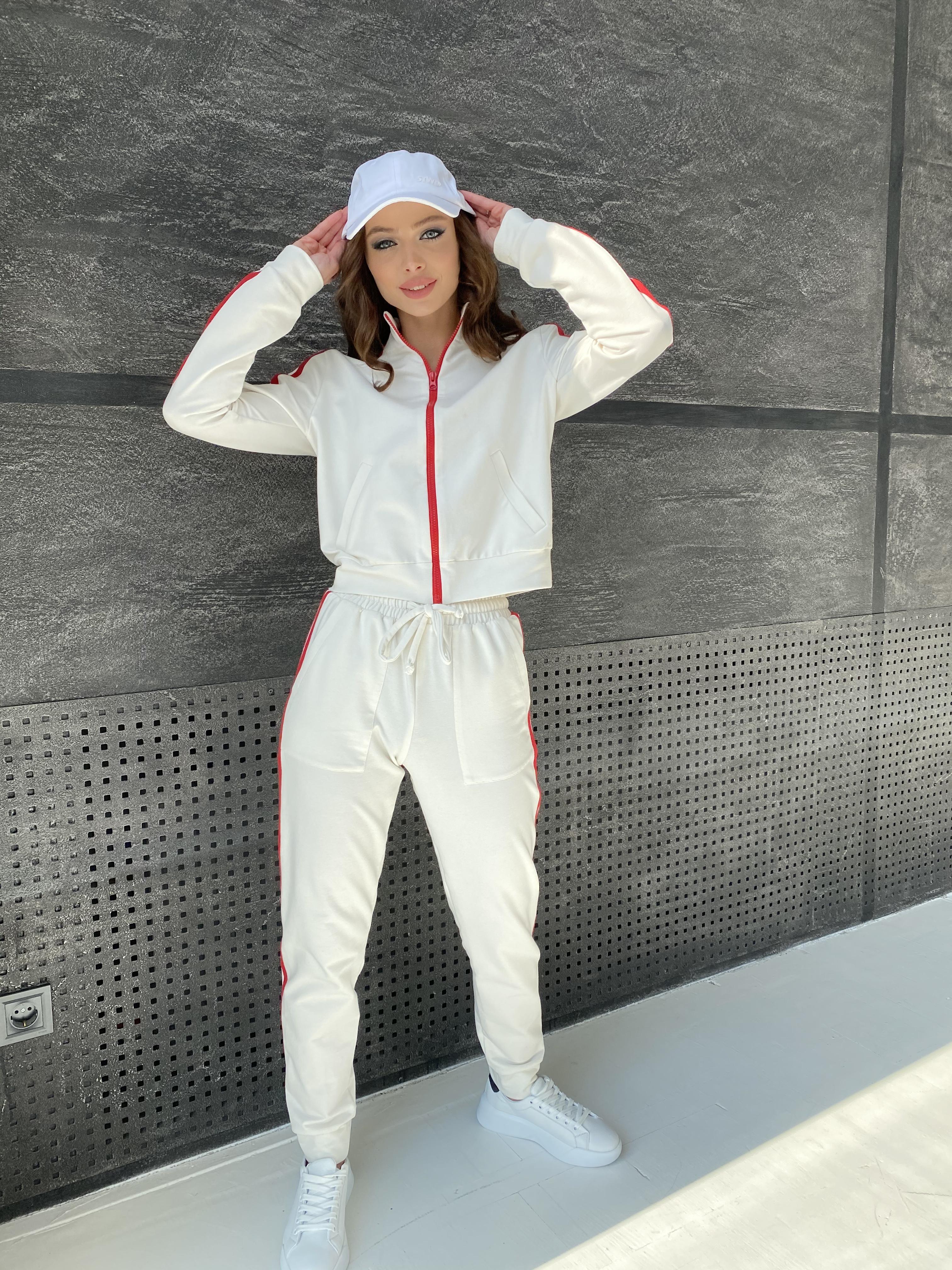 Камон костюм трикотажный из двунитки  9333 АРТ. 45761 Цвет: Молоко/красный - фото 9, интернет магазин tm-modus.ru