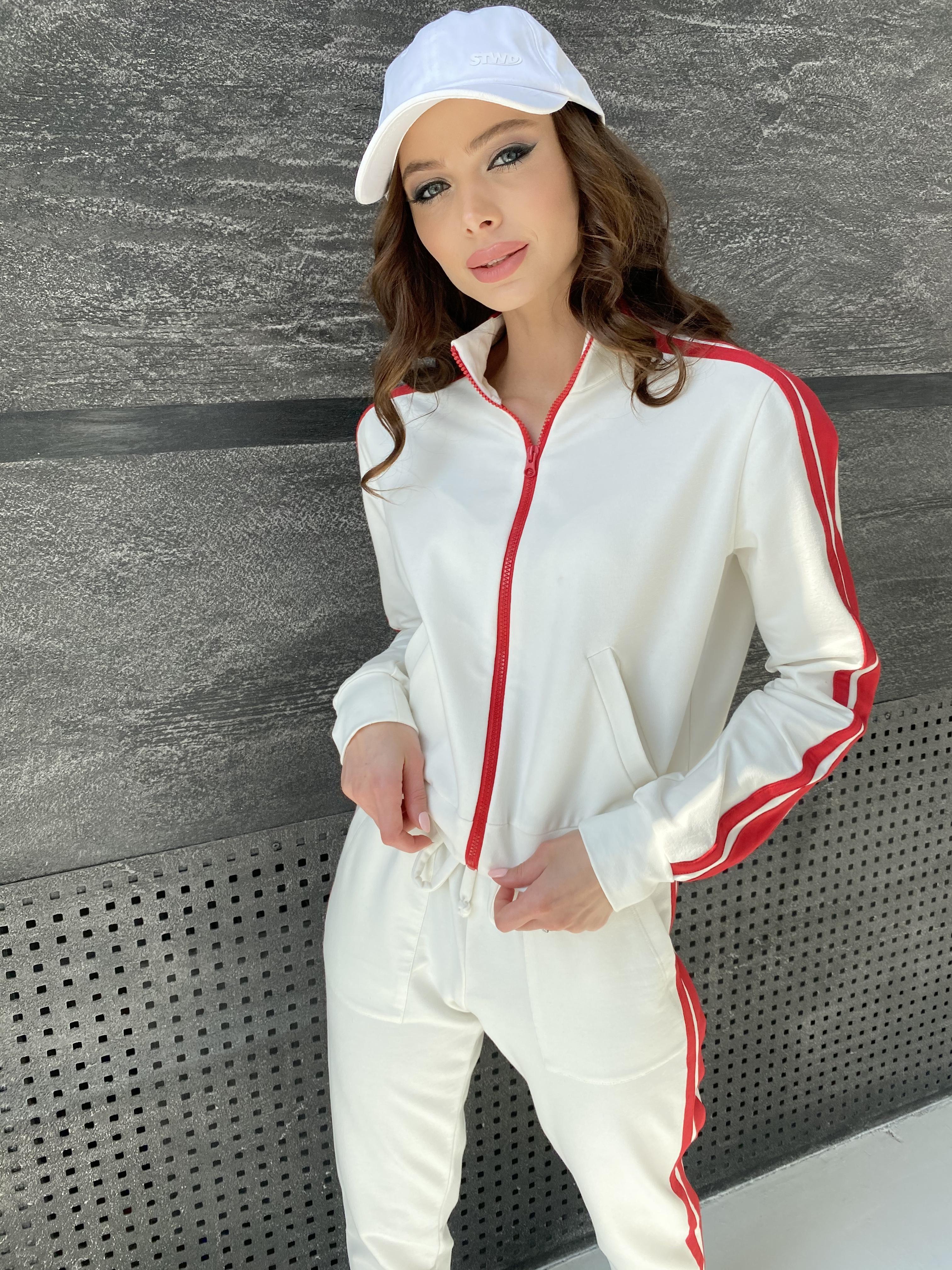 Камон костюм трикотажный из двунитки  9333 АРТ. 45761 Цвет: Молоко/красный - фото 10, интернет магазин tm-modus.ru
