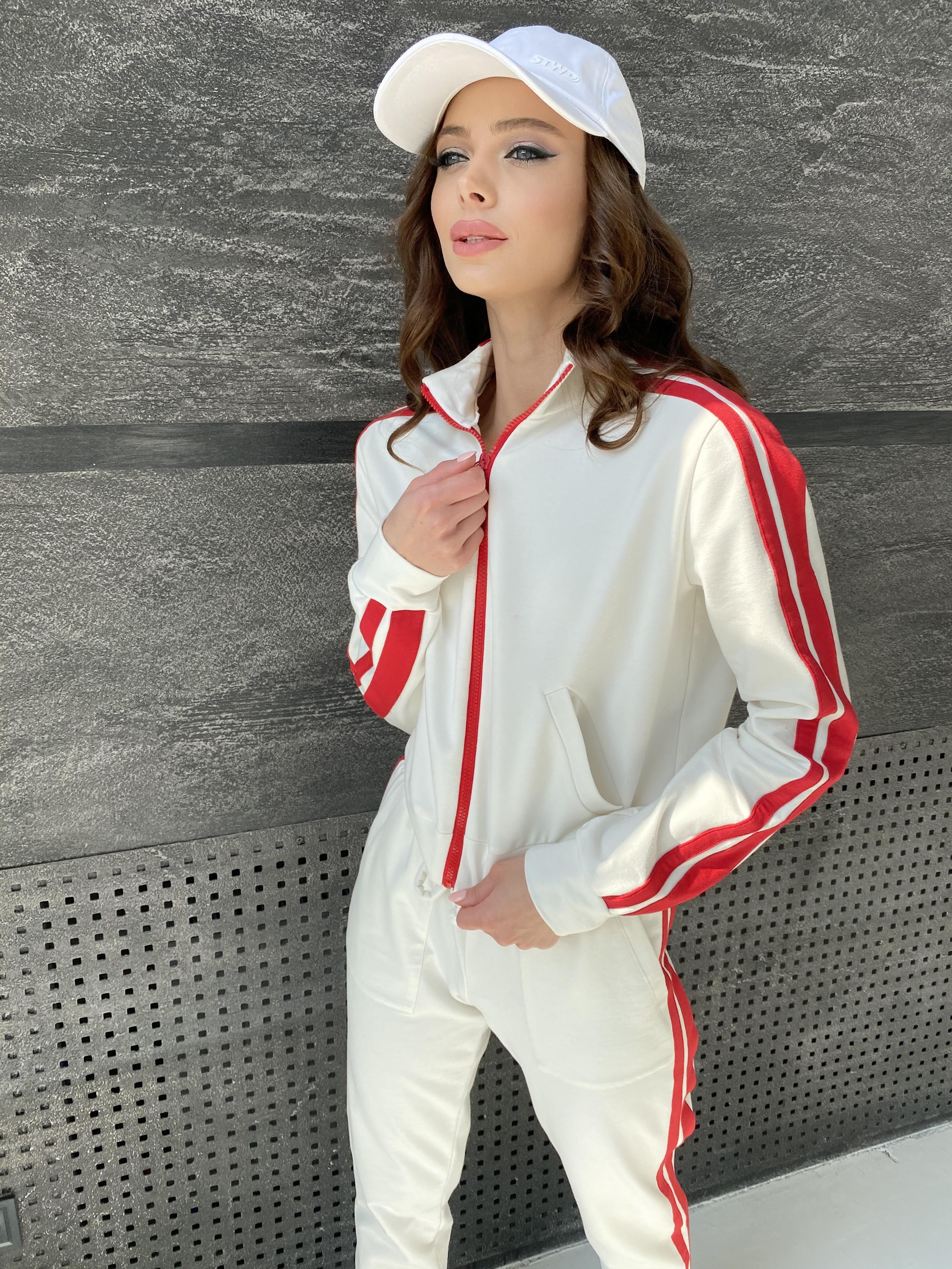Камон костюм трикотажный из двунитки  9333 АРТ. 45761 Цвет: Молоко/красный - фото 11, интернет магазин tm-modus.ru