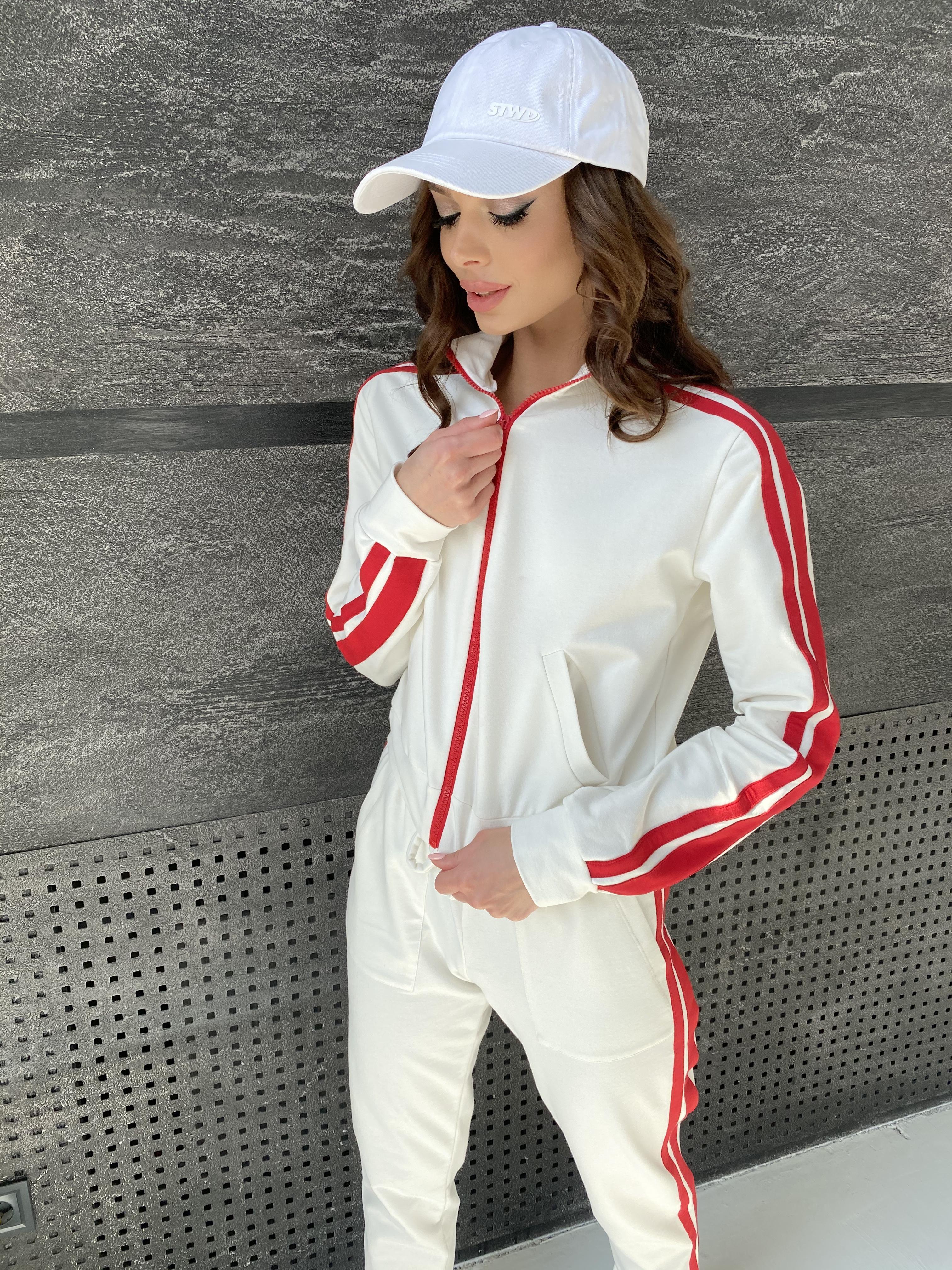 Камон костюм трикотажный из двунитки  9333 АРТ. 45761 Цвет: Молоко/красный - фото 12, интернет магазин tm-modus.ru