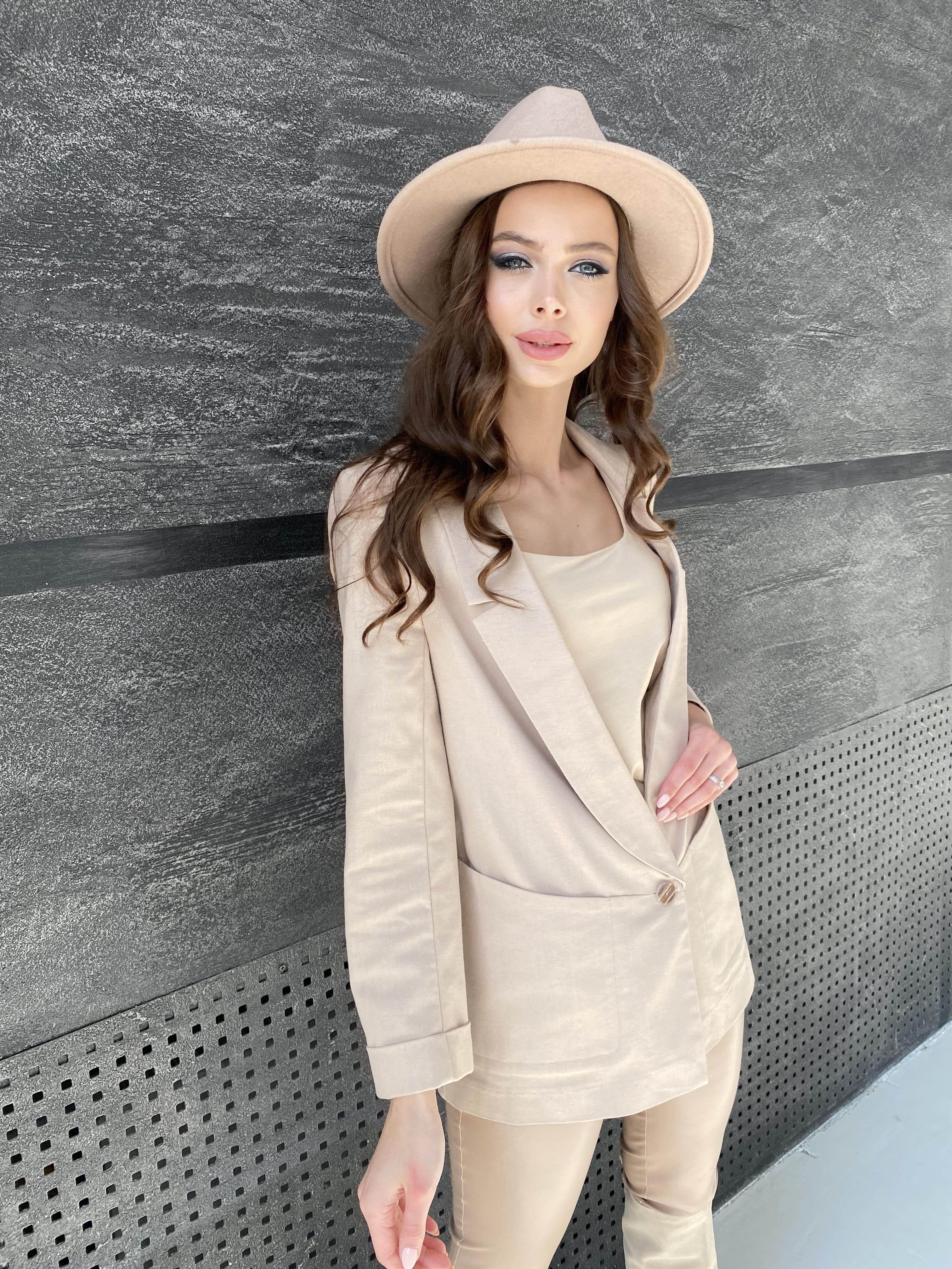 Редми жакет из льна  9514 АРТ. 45851 Цвет: Бежевый - фото 3, интернет магазин tm-modus.ru