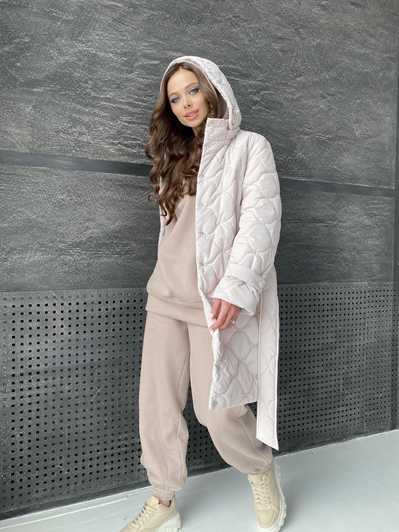 Виза ЗИГЗАГ стеганая куртка из плащевой ткани 11016 АРТ. 47517 Цвет: Бежевый 970 - фото 3, интернет магазин tm-modus.ru