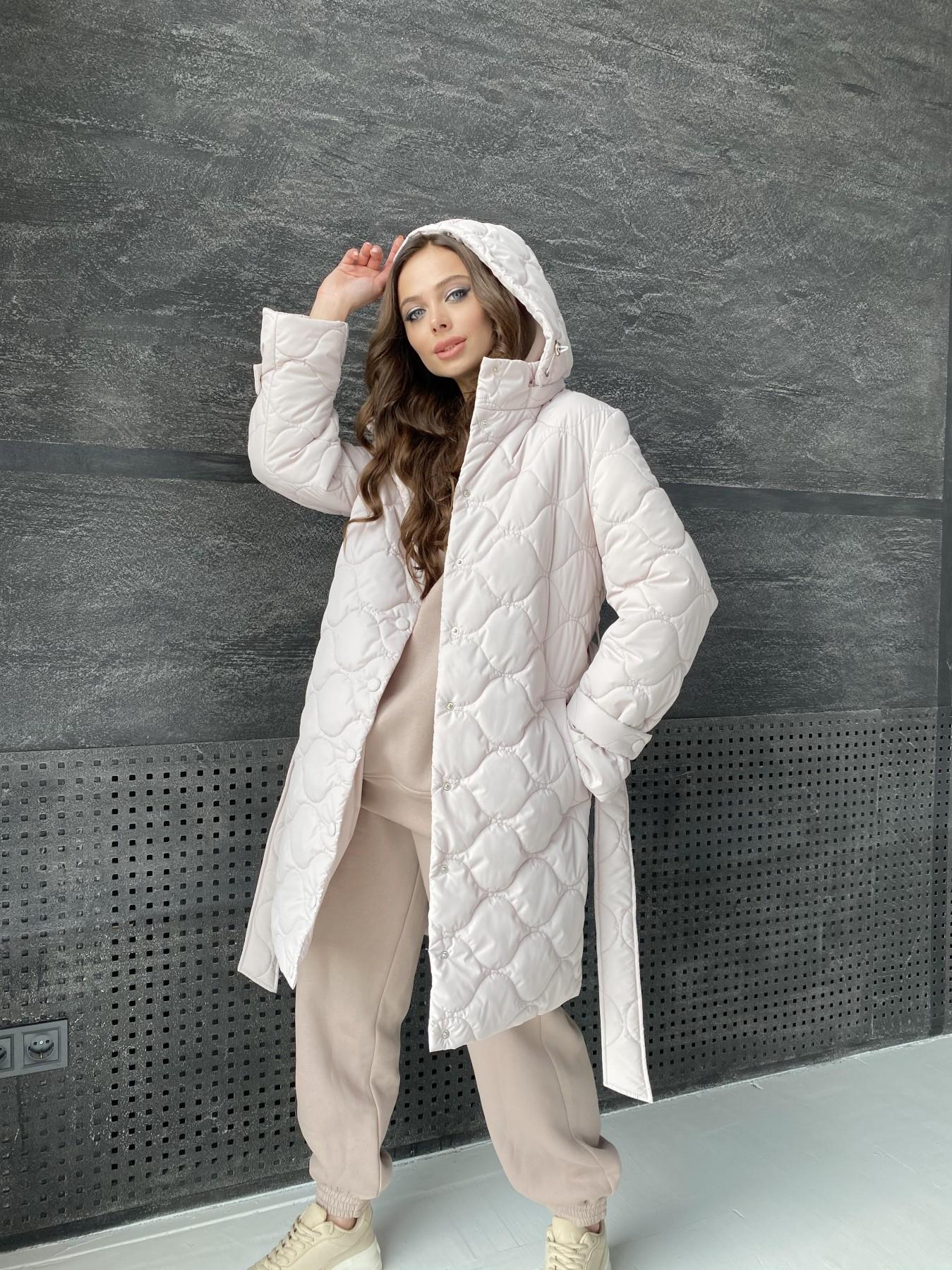Виза ЗИГЗАГ стеганая куртка из плащевой ткани 11016 АРТ. 47517 Цвет: Бежевый 970 - фото 4, интернет магазин tm-modus.ru
