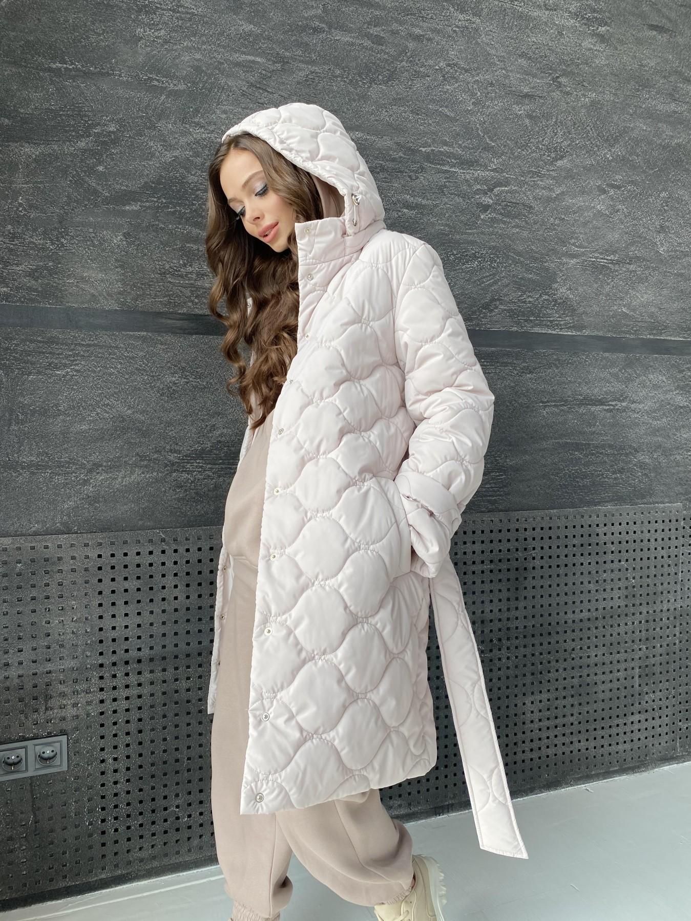 Виза ЗИГЗАГ стеганая куртка из плащевой ткани 11016 АРТ. 47517 Цвет: Бежевый 970 - фото 5, интернет магазин tm-modus.ru