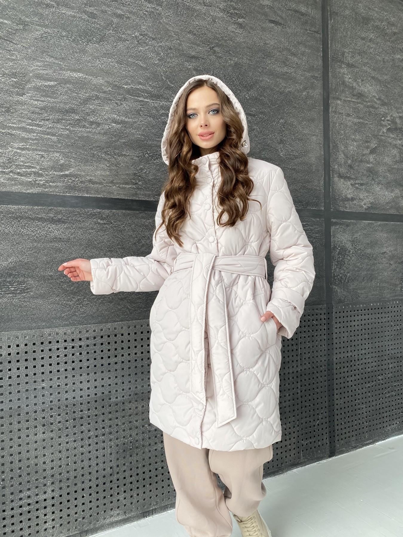 Виза ЗИГЗАГ стеганая куртка из плащевой ткани 11016 АРТ. 47517 Цвет: Бежевый 970 - фото 6, интернет магазин tm-modus.ru