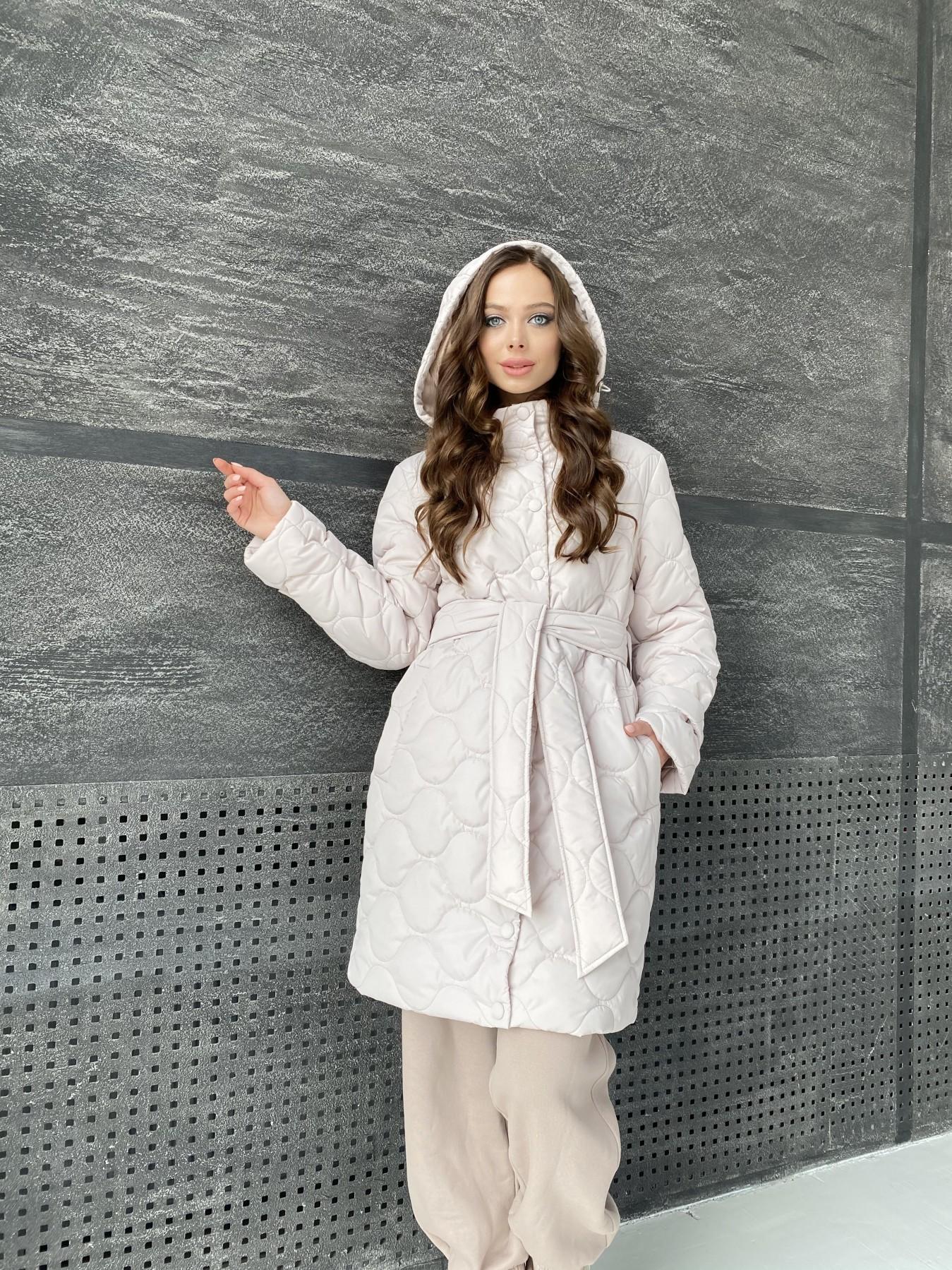 Виза ЗИГЗАГ стеганая куртка из плащевой ткани 11016 АРТ. 47517 Цвет: Бежевый 970 - фото 8, интернет магазин tm-modus.ru