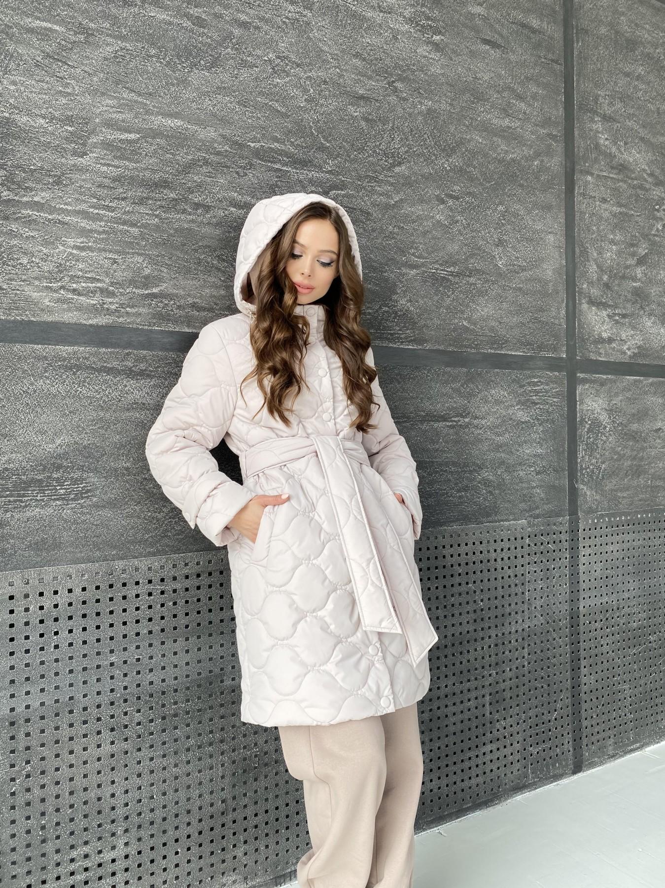 Виза ЗИГЗАГ стеганая куртка из плащевой ткани 11016 АРТ. 47517 Цвет: Бежевый 970 - фото 9, интернет магазин tm-modus.ru