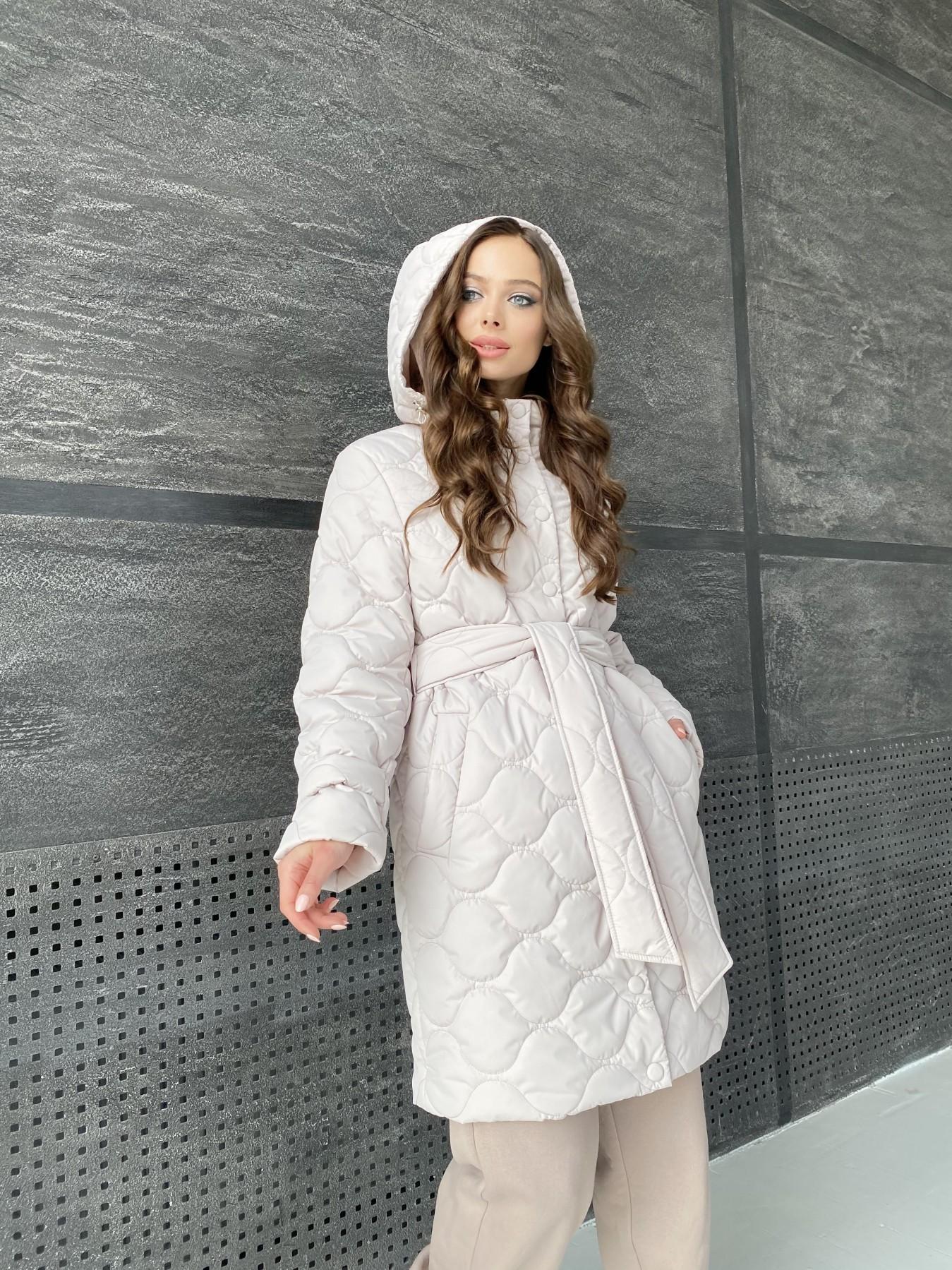 куртки оптом Украина  Виза ЗИГЗАГ стеганая куртка из плащевой ткани 11016