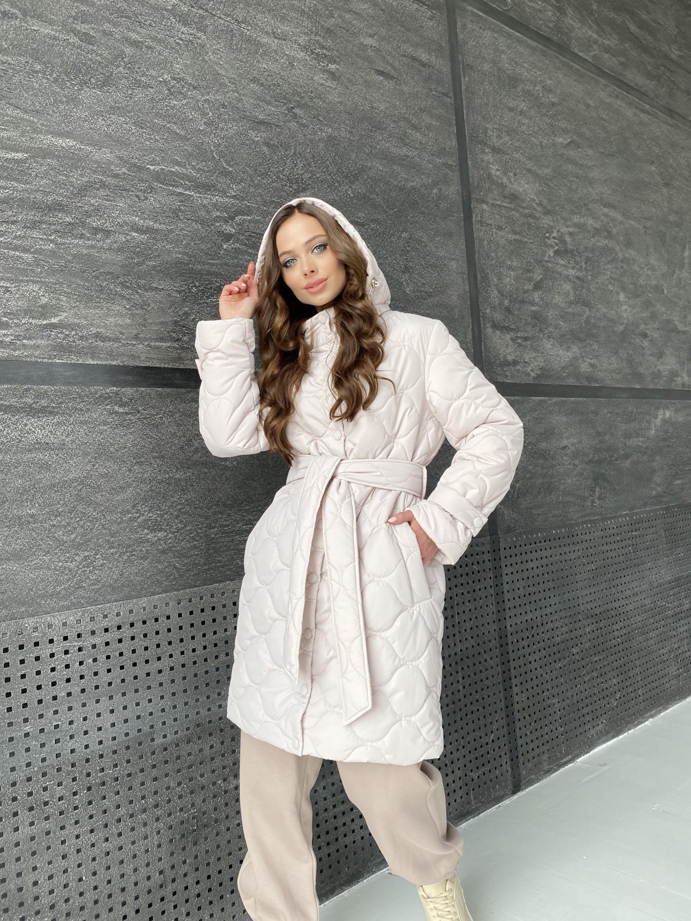 Виза ЗИГЗАГ стеганая куртка из плащевой ткани 11016 АРТ. 47517 Цвет: Бежевый 970 - фото 11, интернет магазин tm-modus.ru