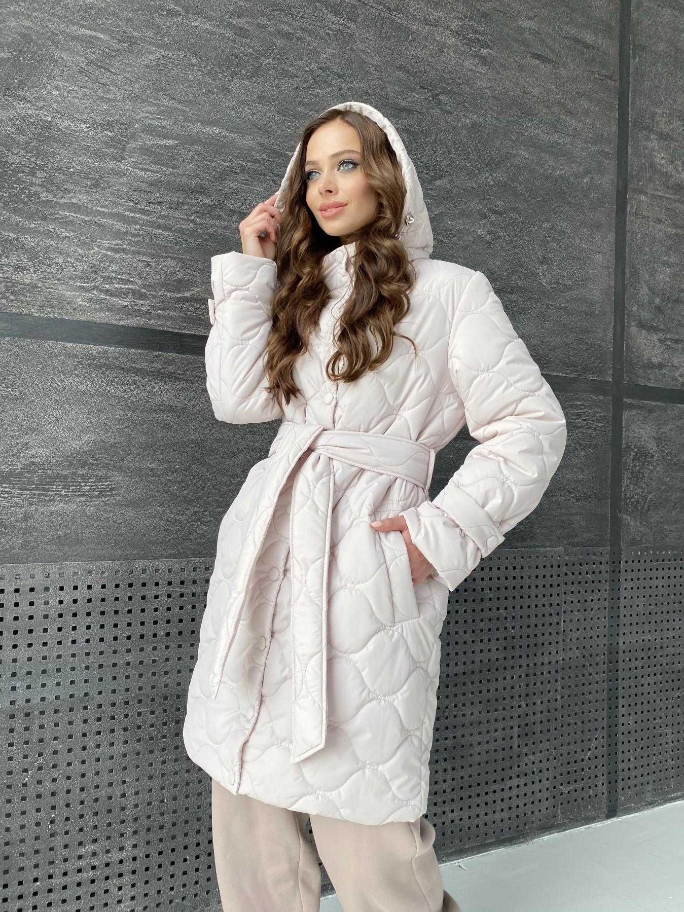 Виза ЗИГЗАГ стеганая куртка из плащевой ткани 11016 АРТ. 47517 Цвет: Бежевый 970 - фото 12, интернет магазин tm-modus.ru