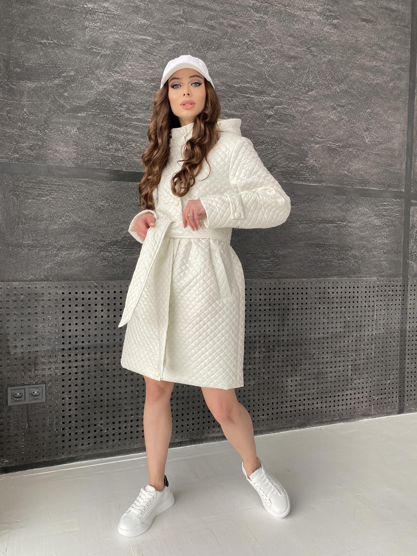 Виза стеганая куртка в мелкую стежку из плащевой ткани 11017 АРТ. 47518 Цвет: Молоко - фото 13, интернет магазин tm-modus.ru