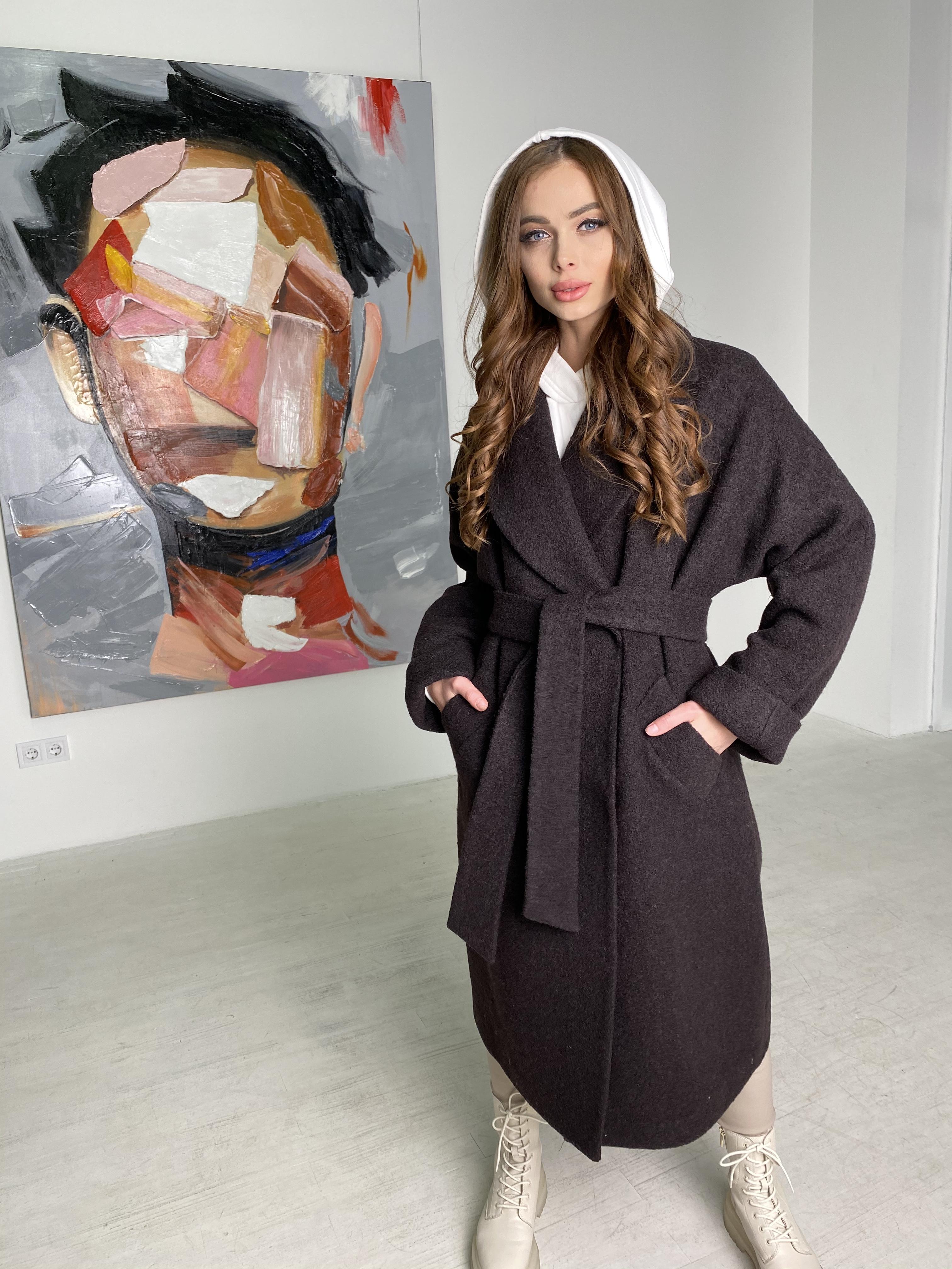 Влада баритон  пальто  из пальтовой ткани 10313 АРТ. 46630 Цвет: Шоколад - фото 1, интернет магазин tm-modus.ru