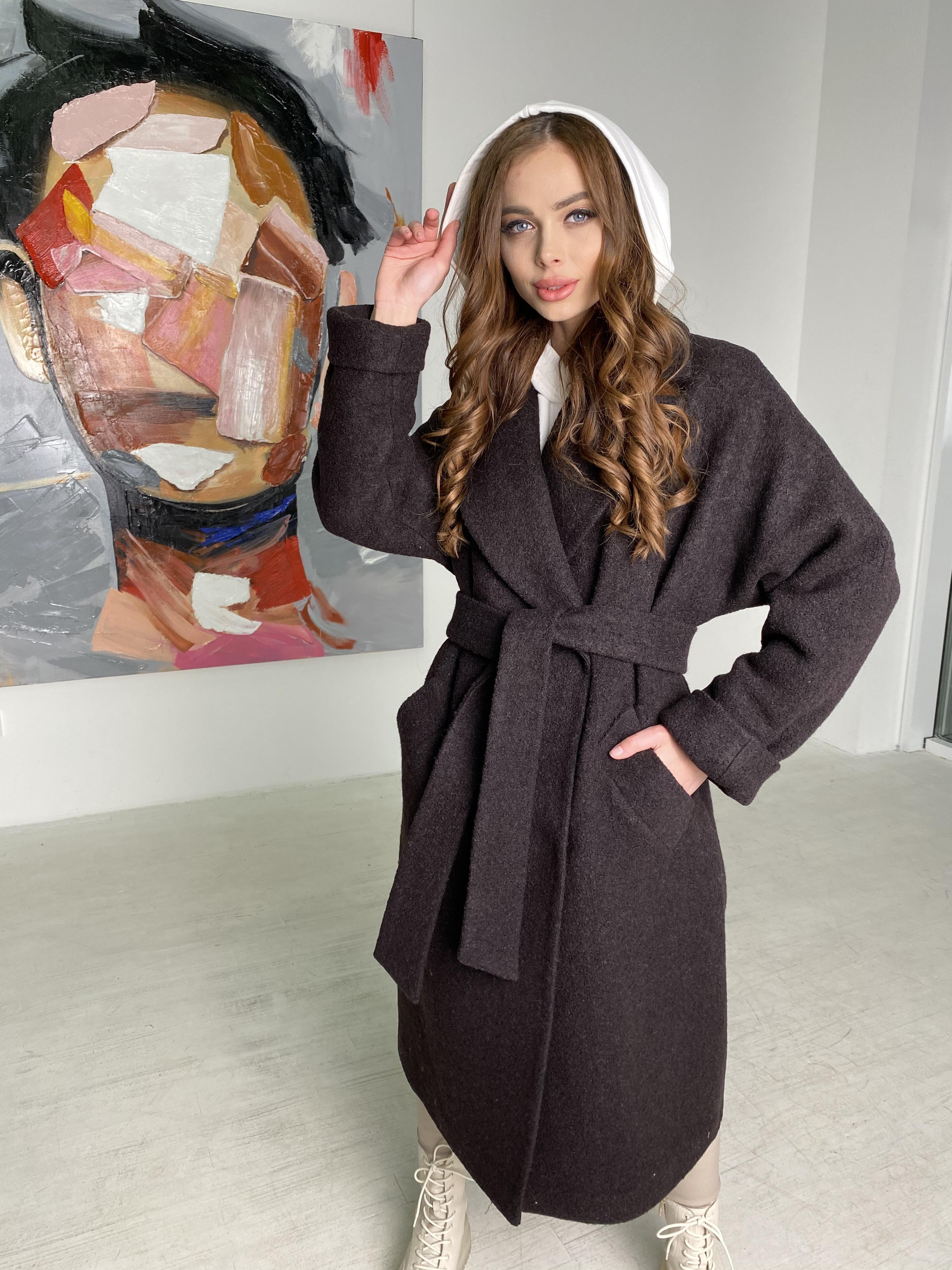 Пальто демисезонное женское больших размеров Влада баритон  пальто  из пальтовой ткани 10313