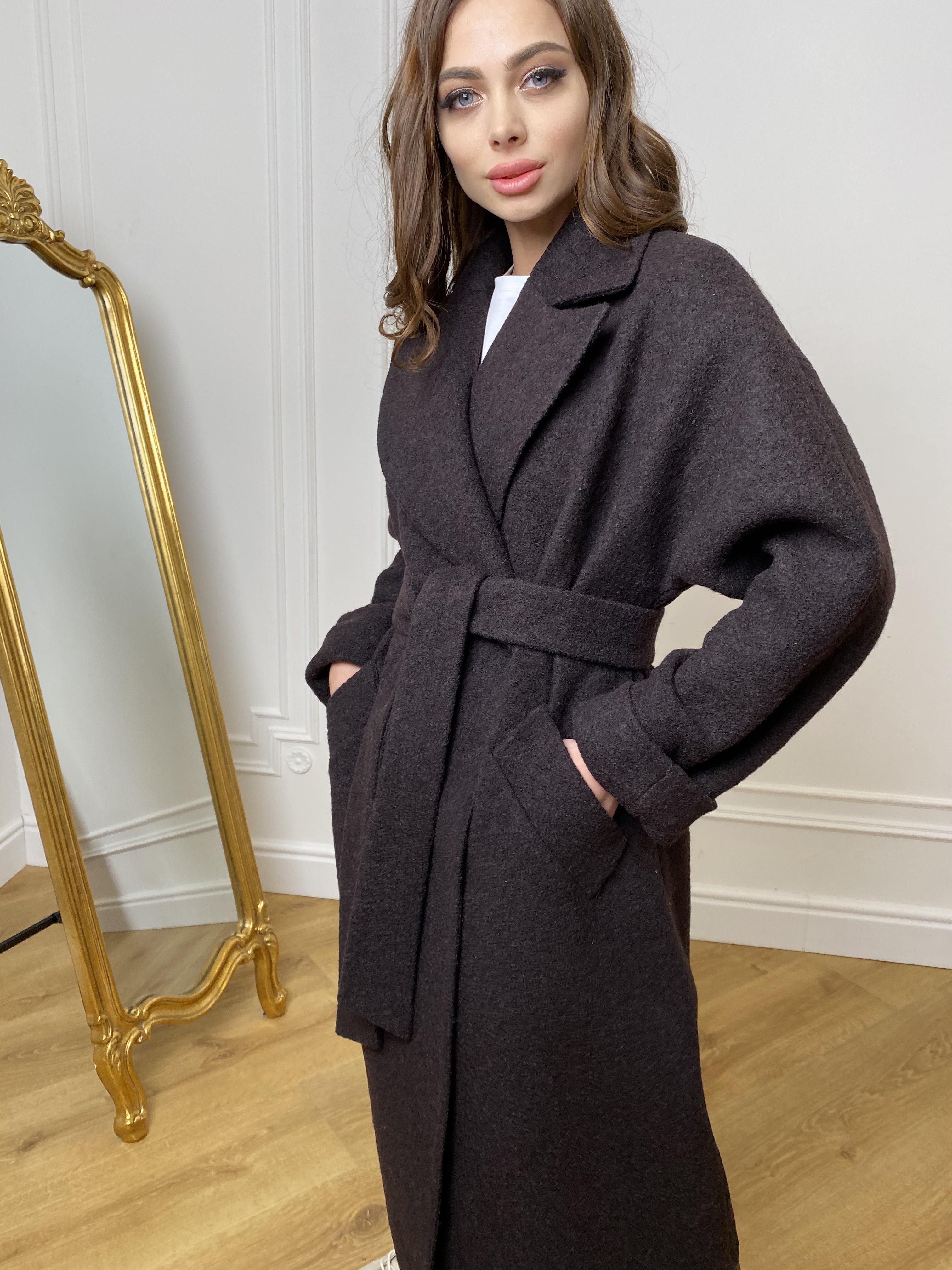 Влада баритон  пальто  из пальтовой ткани 10313 АРТ. 46630 Цвет: Шоколад - фото 3, интернет магазин tm-modus.ru