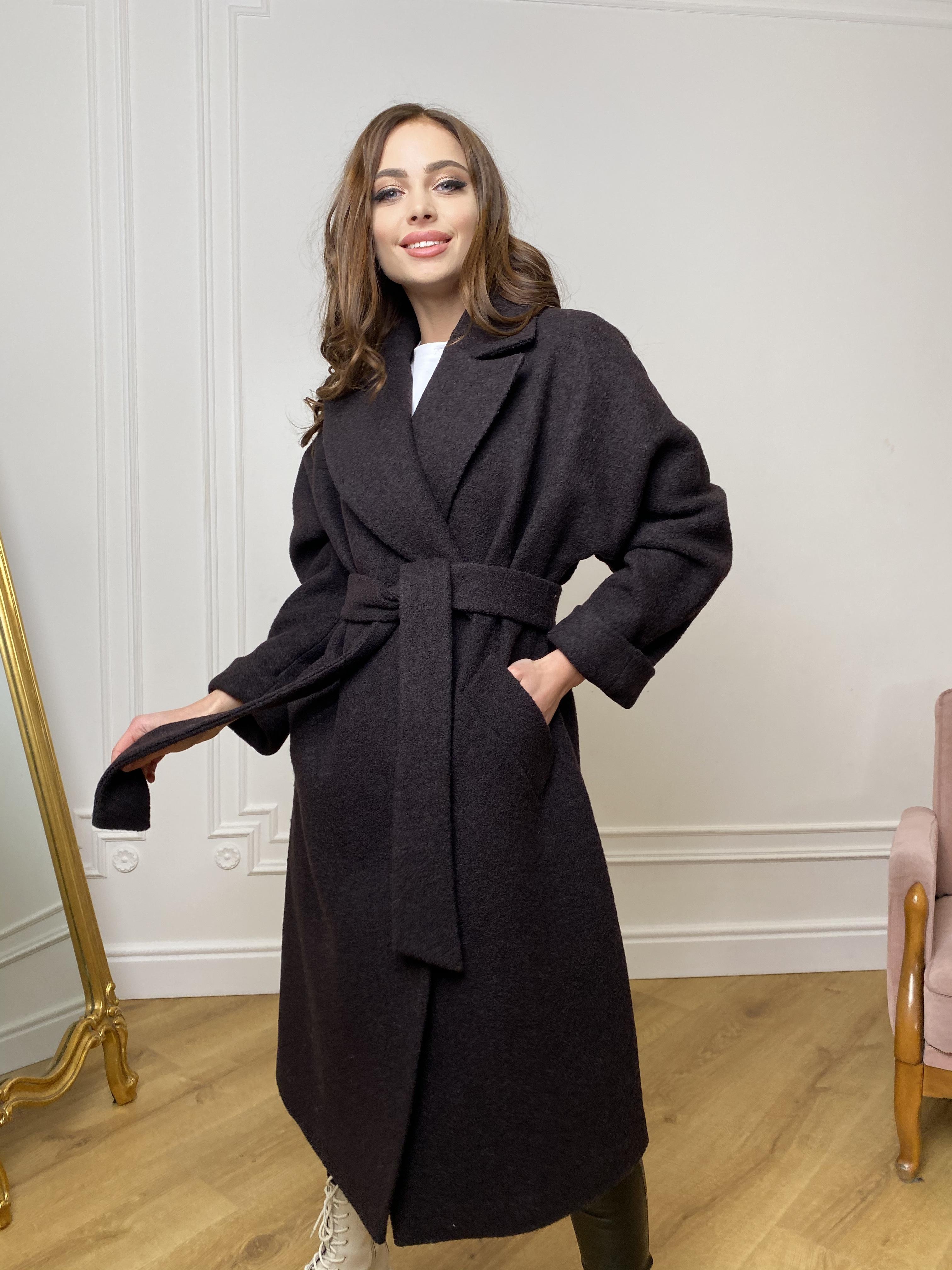 Влада баритон  пальто  из пальтовой ткани 10313 АРТ. 46630 Цвет: Шоколад - фото 4, интернет магазин tm-modus.ru