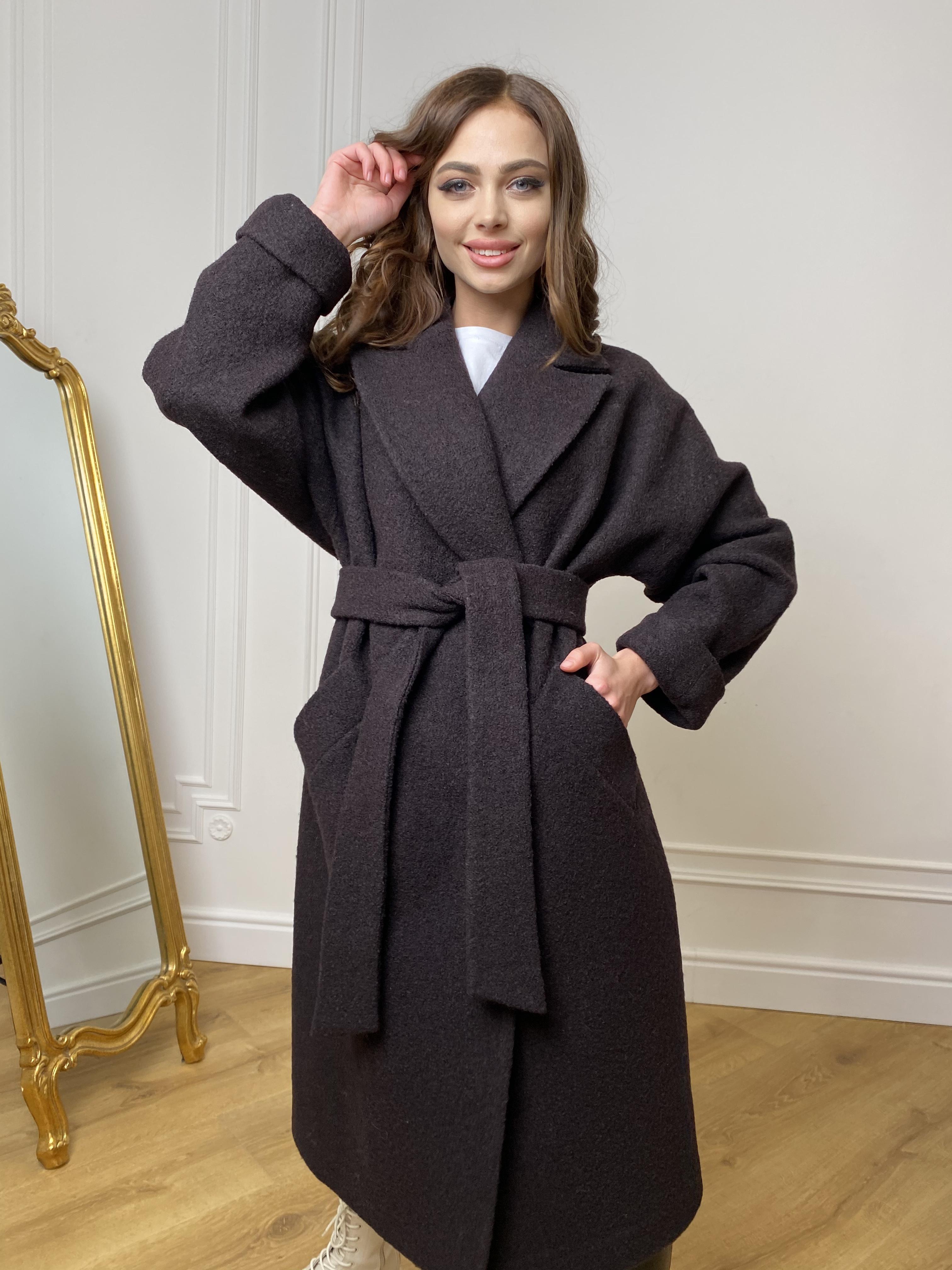 Влада баритон  пальто  из пальтовой ткани 10313 АРТ. 46630 Цвет: Шоколад - фото 5, интернет магазин tm-modus.ru