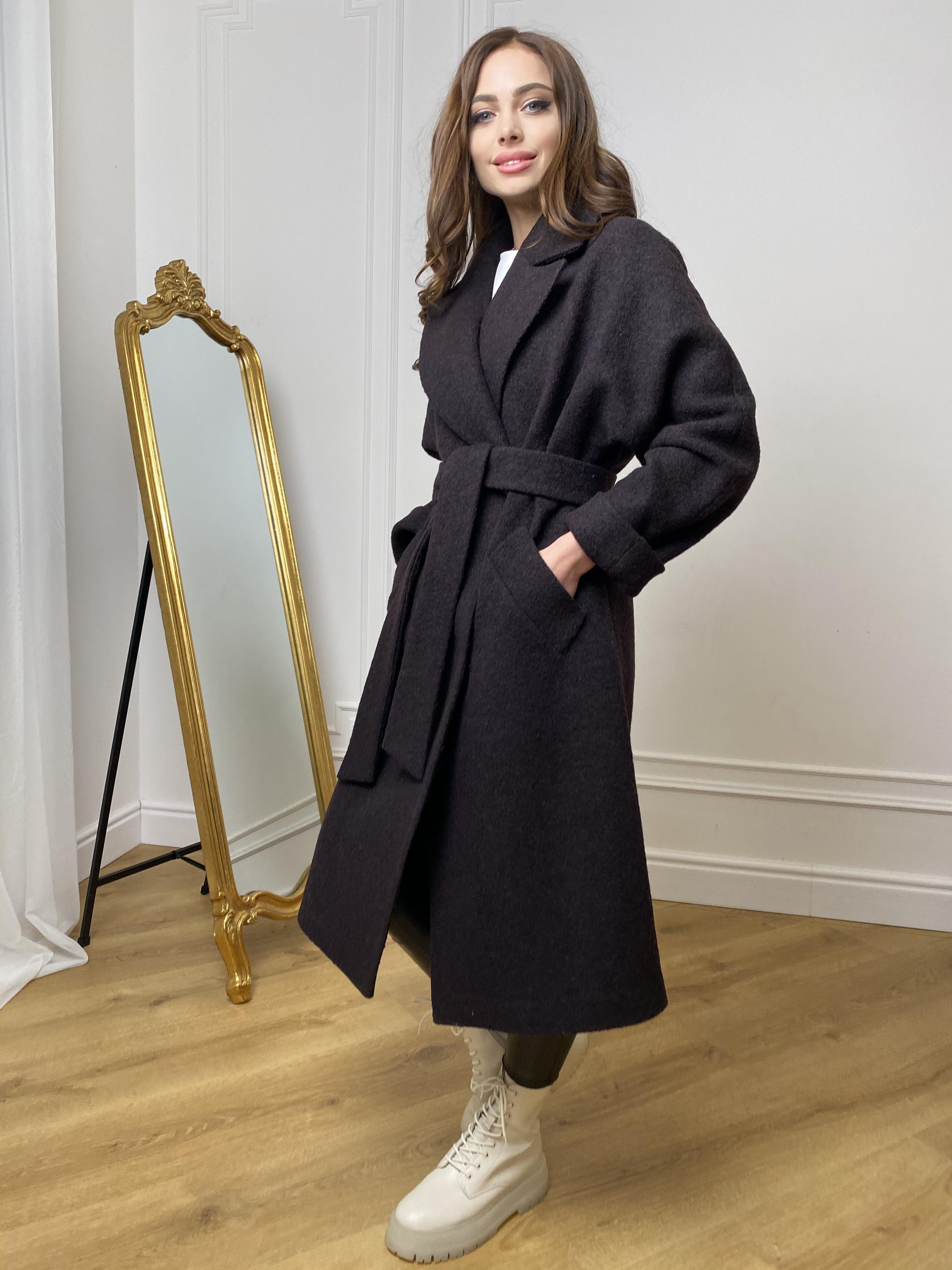 Влада баритон  пальто  из пальтовой ткани 10313 АРТ. 46630 Цвет: Шоколад - фото 6, интернет магазин tm-modus.ru
