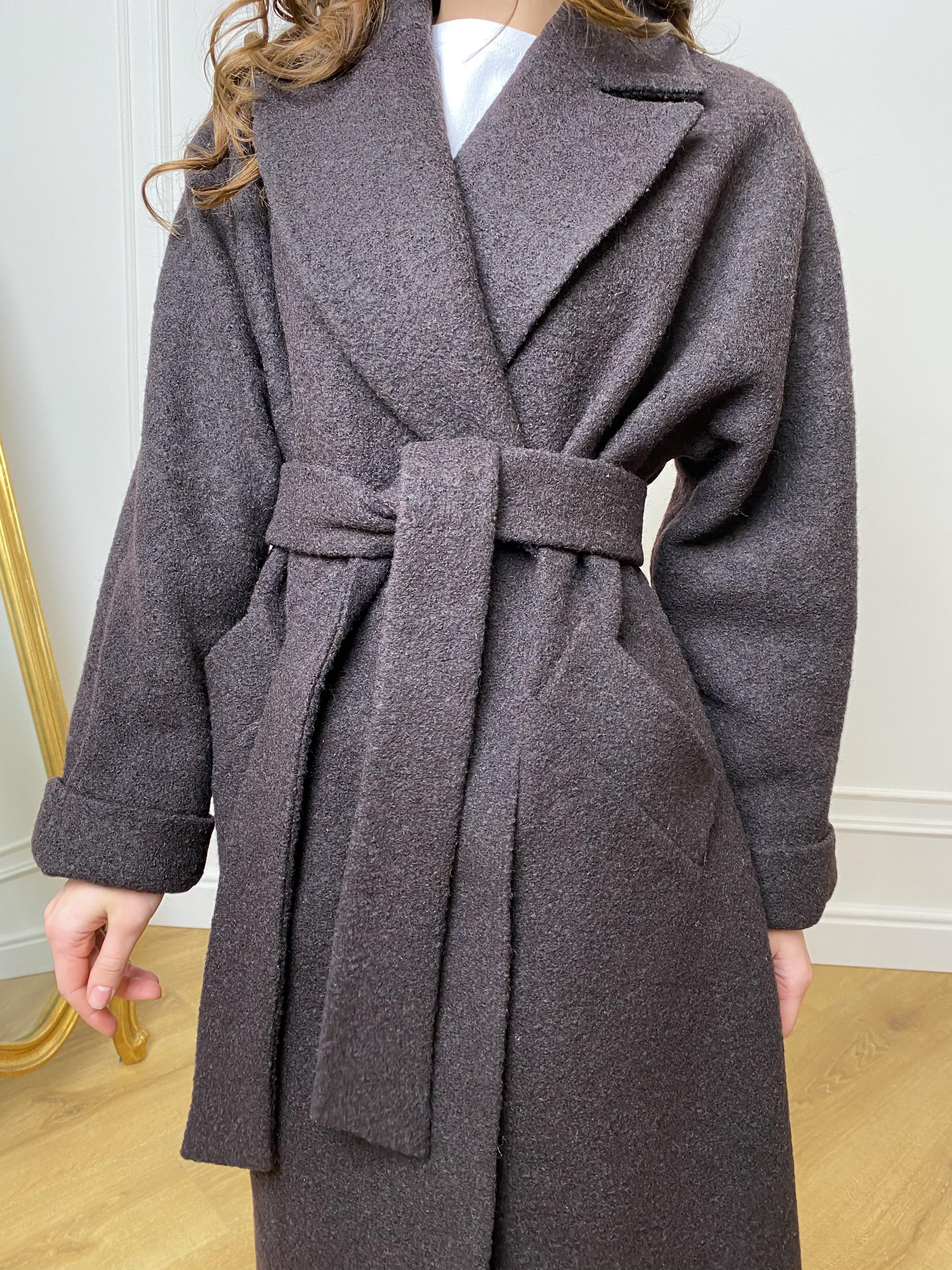 Влада баритон  пальто  из пальтовой ткани 10313 АРТ. 46630 Цвет: Шоколад - фото 7, интернет магазин tm-modus.ru