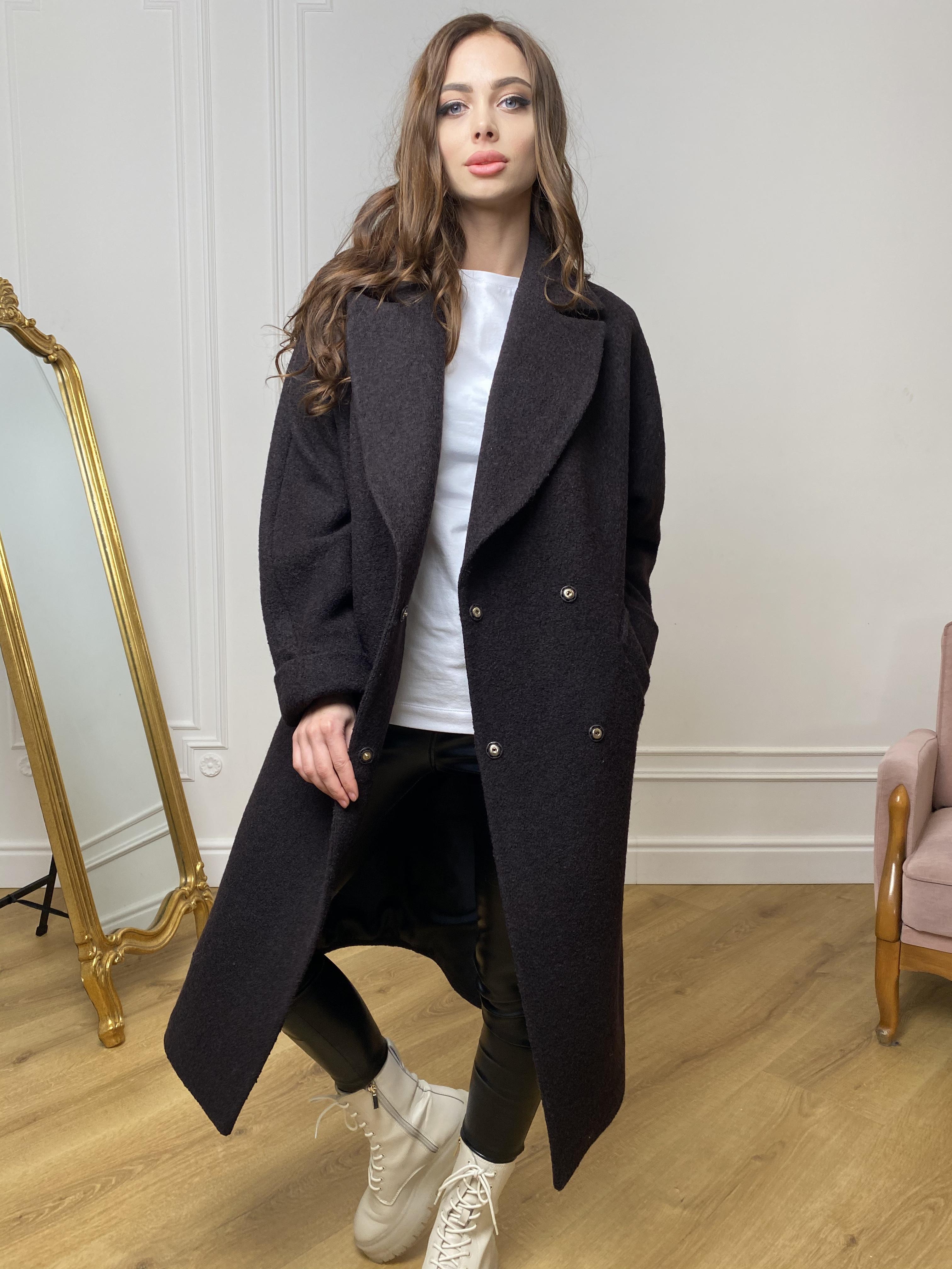 Влада баритон  пальто  из пальтовой ткани 10313 АРТ. 46630 Цвет: Шоколад - фото 8, интернет магазин tm-modus.ru