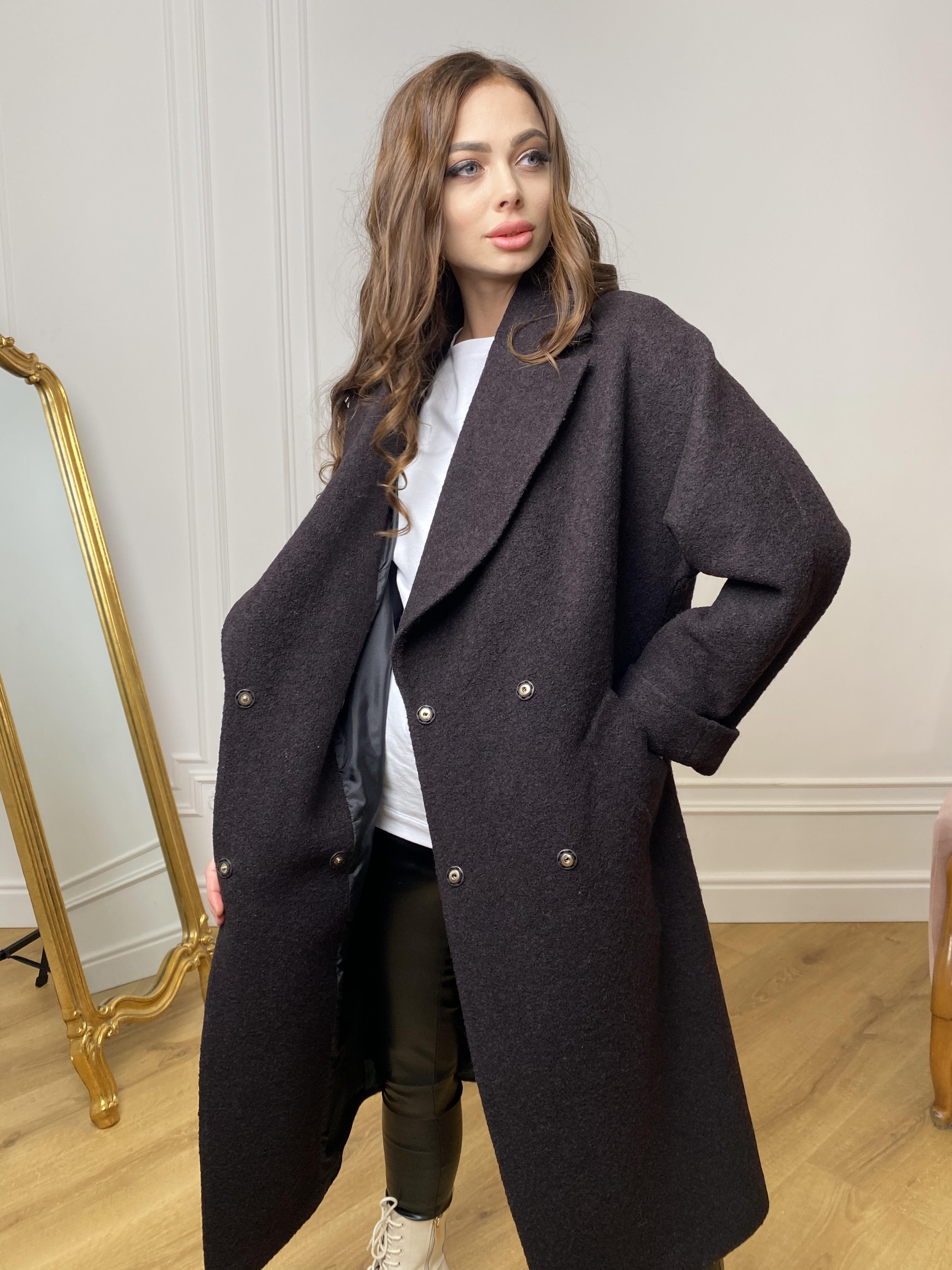 Влада баритон  пальто  из пальтовой ткани 10313 АРТ. 46630 Цвет: Шоколад - фото 9, интернет магазин tm-modus.ru