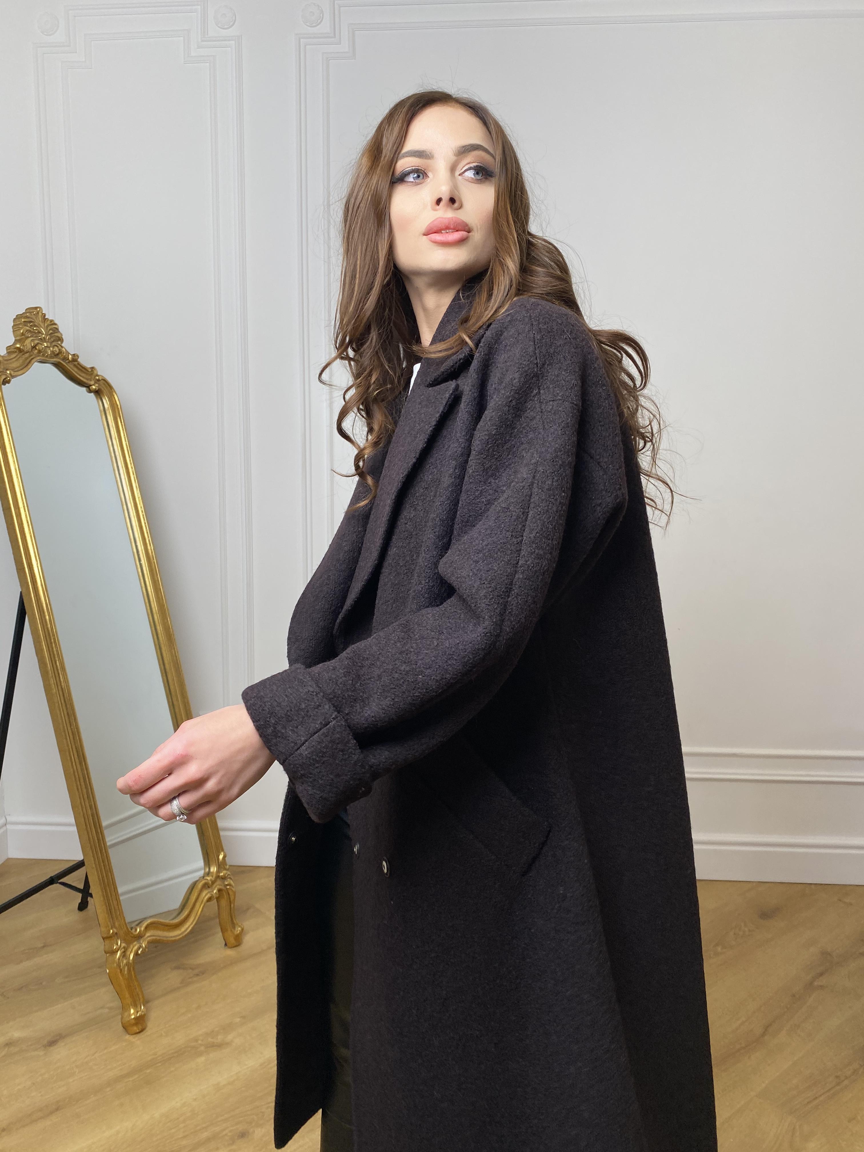 Влада баритон  пальто  из пальтовой ткани 10313 АРТ. 46630 Цвет: Шоколад - фото 10, интернет магазин tm-modus.ru