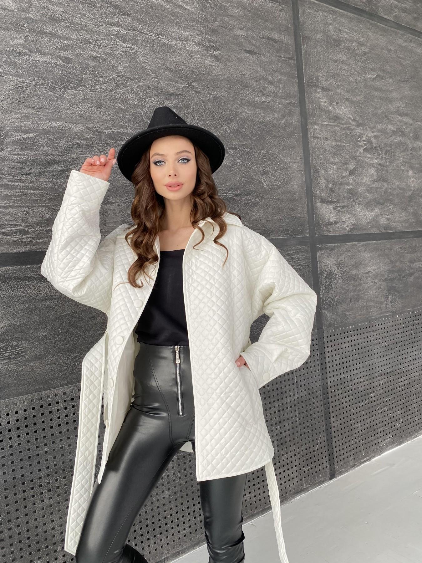 Моно куртка стеганая из  плащевой ткани 11045 АРТ. 47530 Цвет: Молоко - фото 7, интернет магазин tm-modus.ru