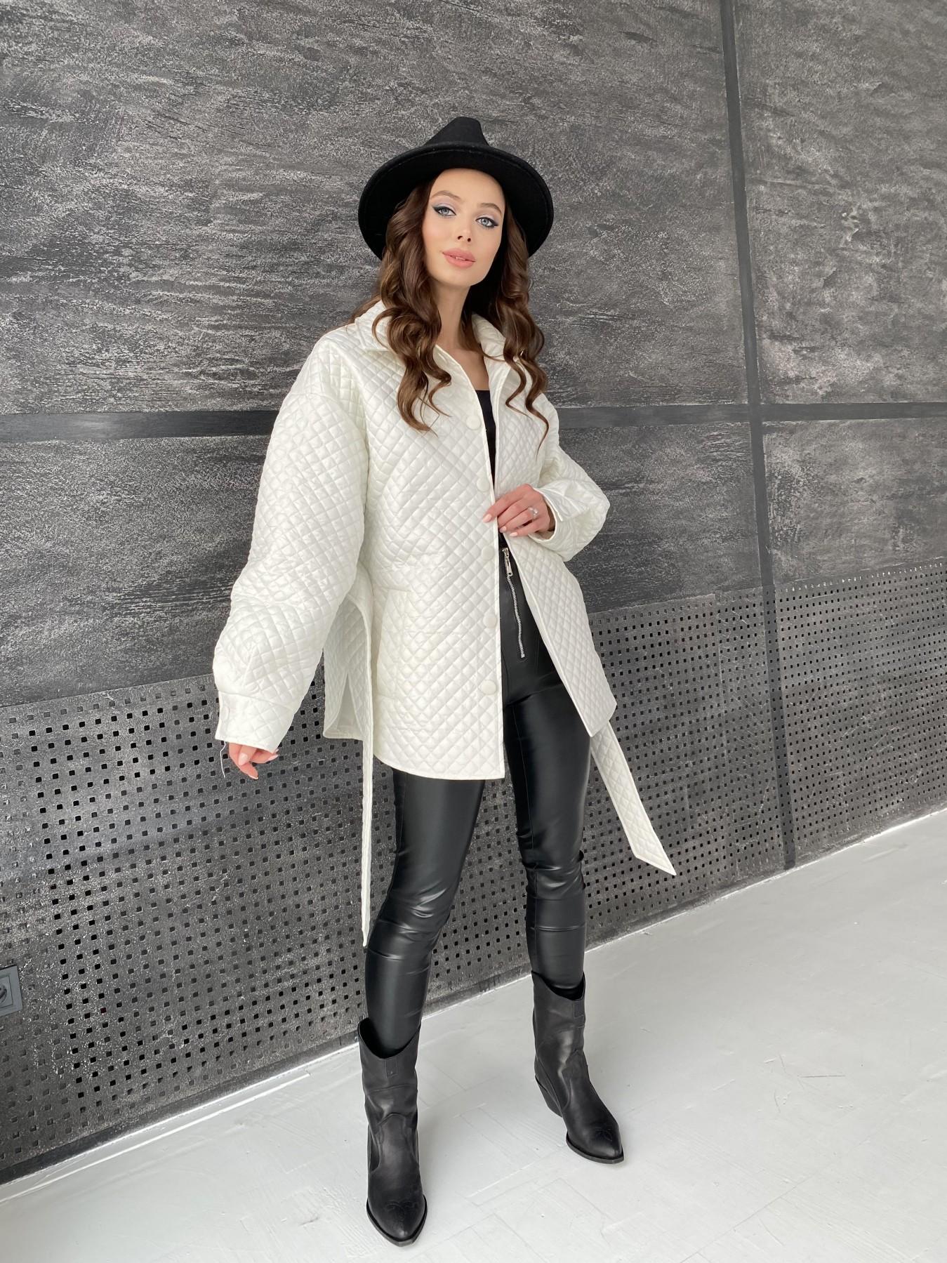 Моно куртка стеганая из  плащевой ткани 11045 АРТ. 47530 Цвет: Молоко - фото 9, интернет магазин tm-modus.ru