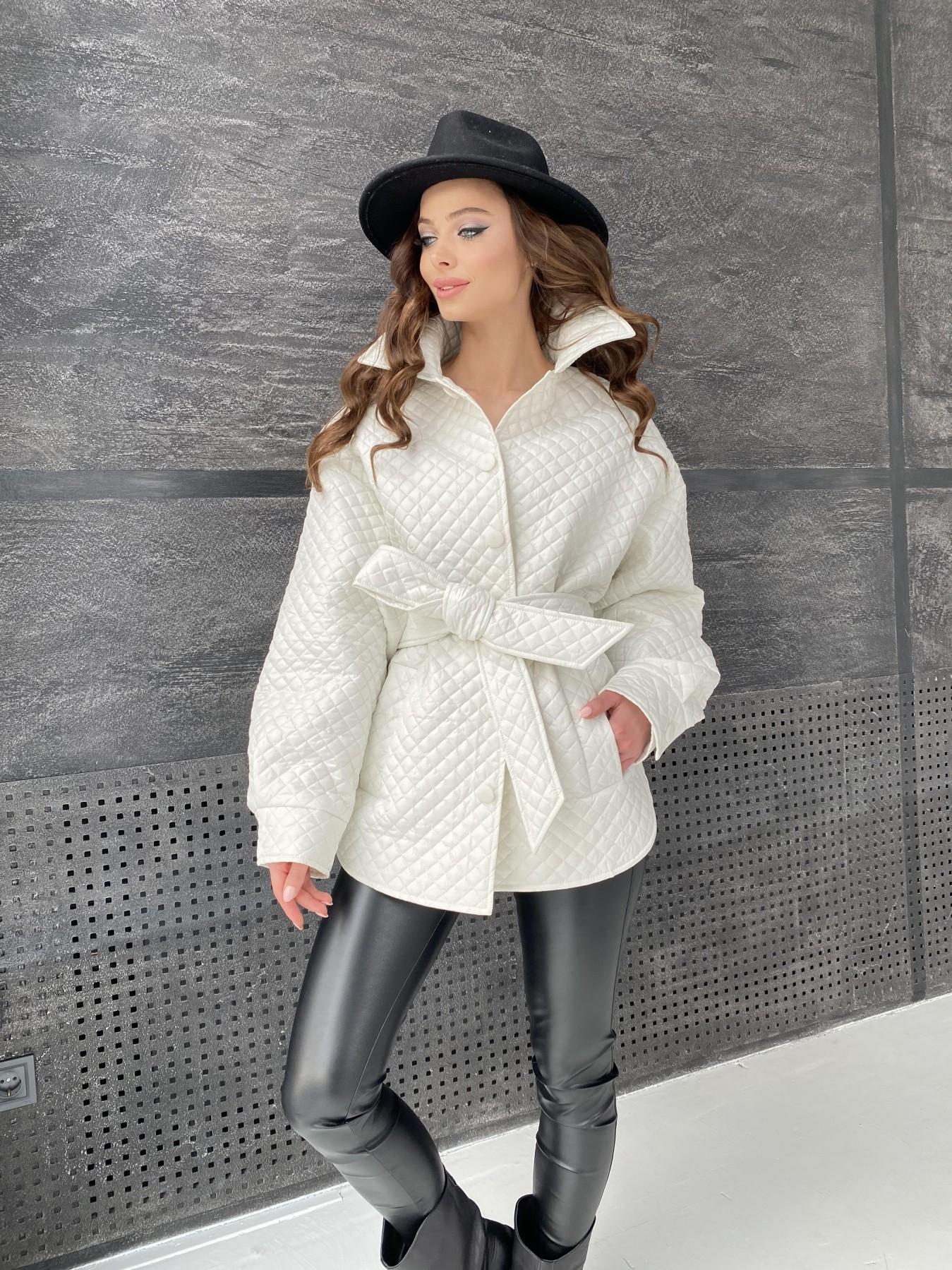 куртки оптом от производителя  Моно куртка стеганая из  плащевой ткани 11045