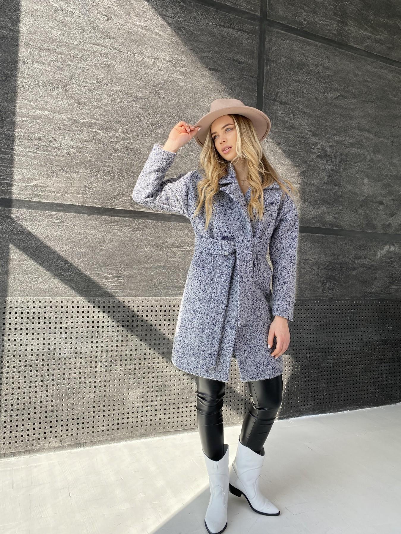 Сенсей пальто из шерсти букле 10780 АРТ. 47234 Цвет: Серо-голубой 60 - фото 3, интернет магазин tm-modus.ru