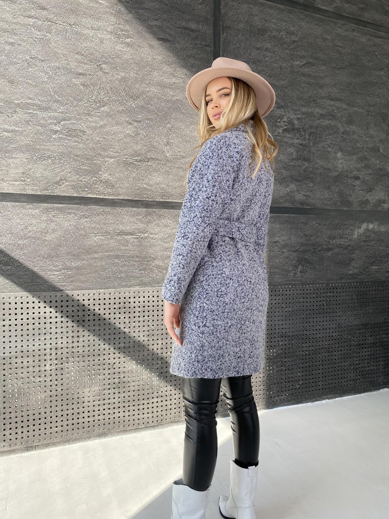 Сенсей пальто из шерсти букле 10780 АРТ. 47234 Цвет: Серо-голубой 60 - фото 4, интернет магазин tm-modus.ru