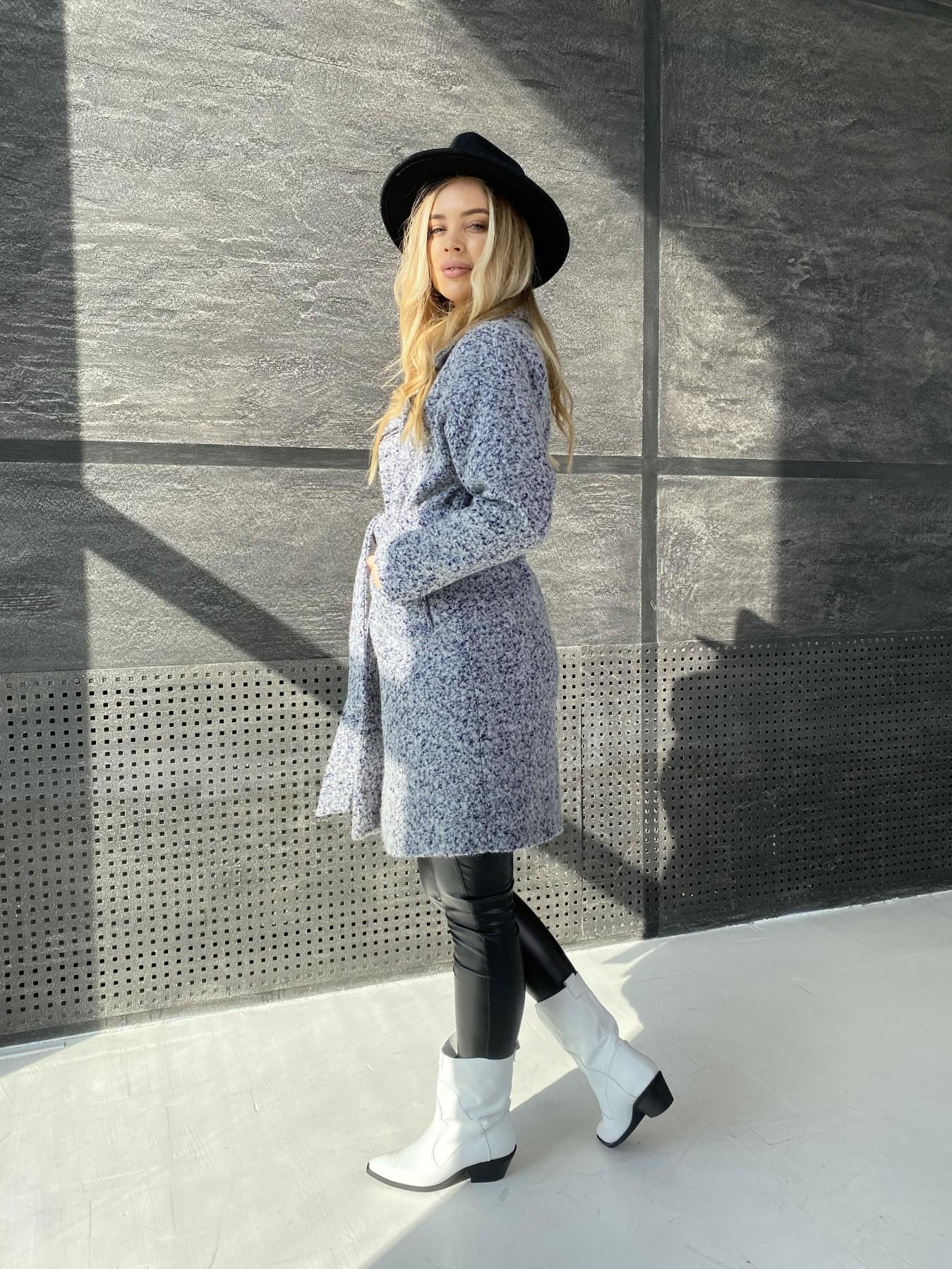Сенсей пальто из шерсти букле 10780 АРТ. 47234 Цвет: Серо-голубой 60 - фото 5, интернет магазин tm-modus.ru