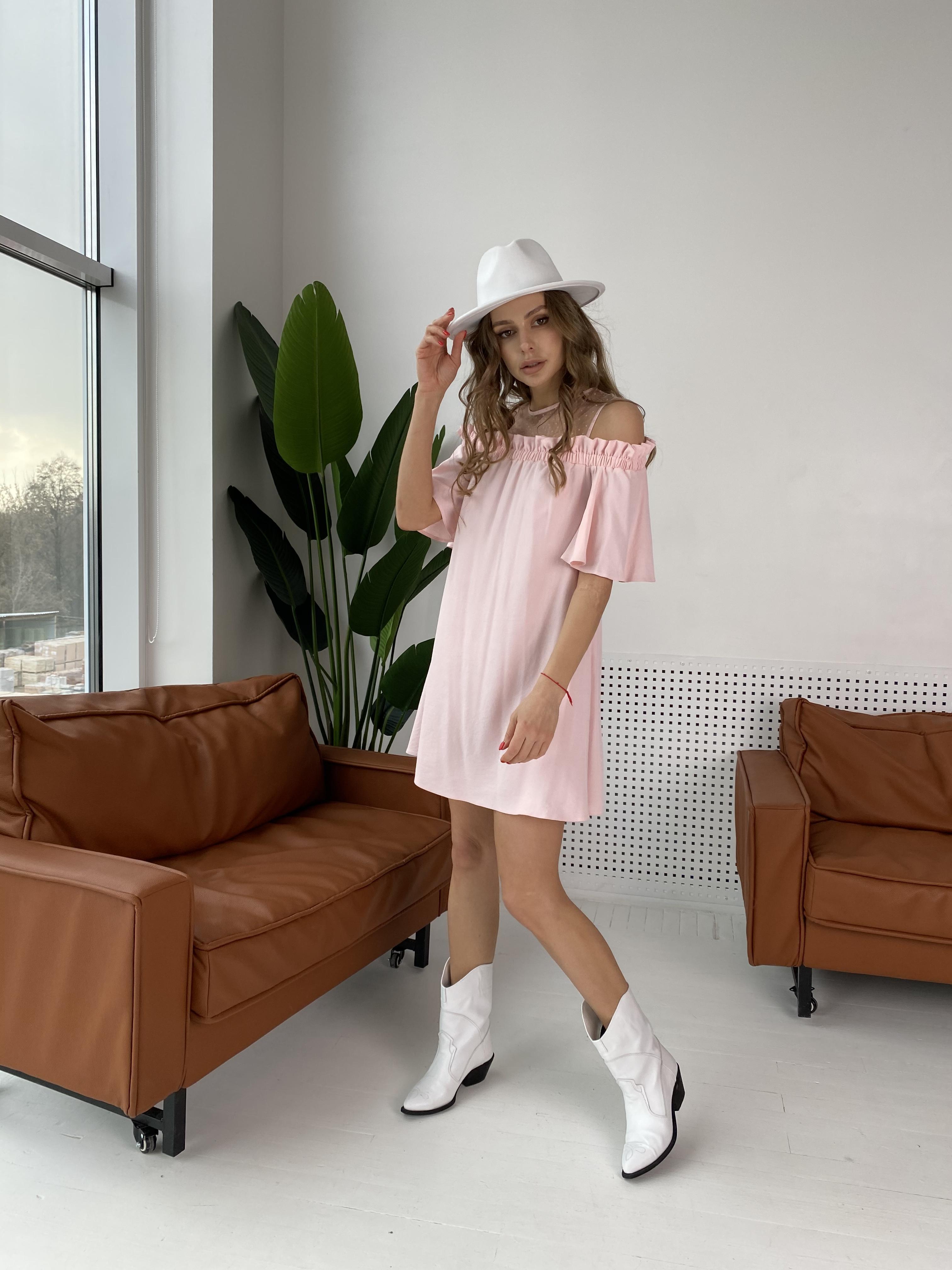 Молена платье  7192 АРТ. 42752 Цвет: Розовый Светлый 8 - фото 2, интернет магазин tm-modus.ru