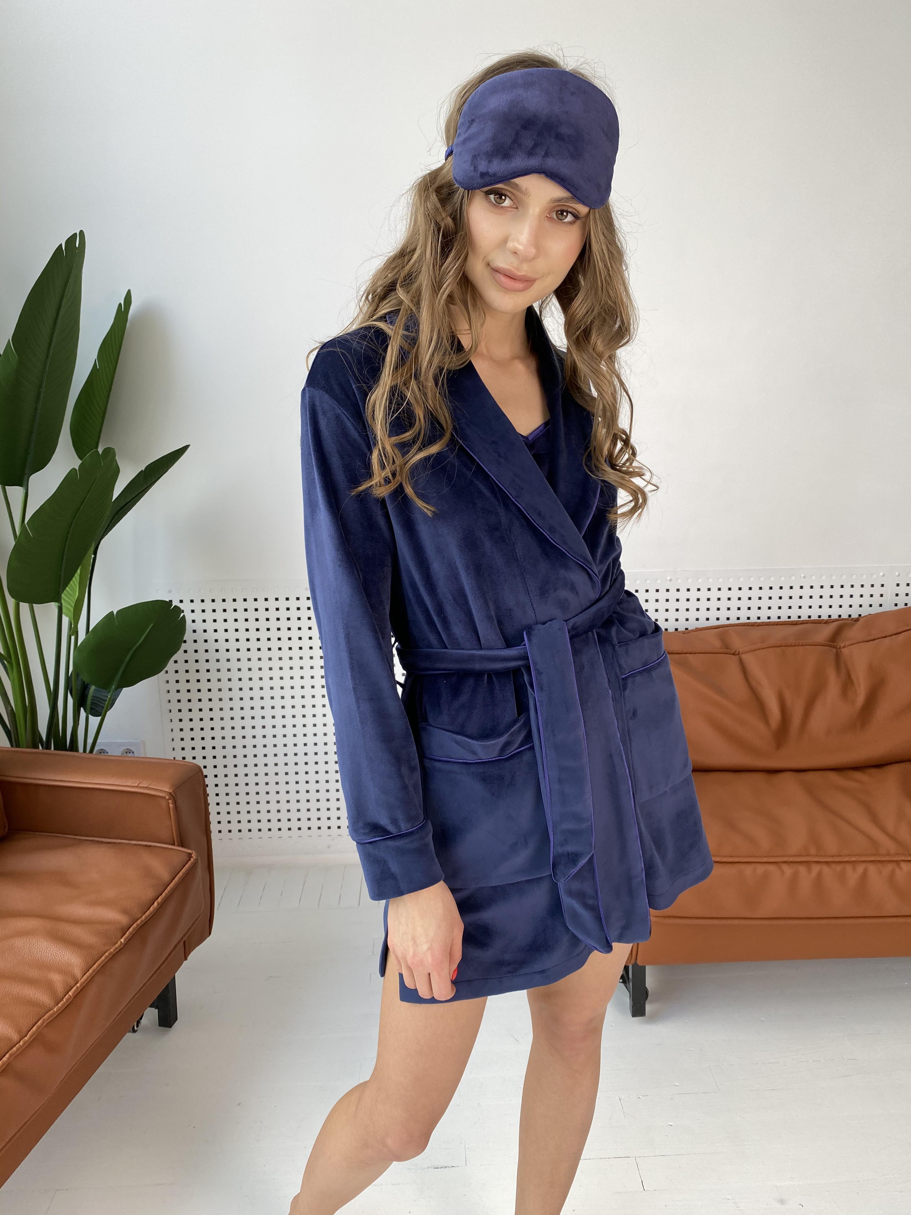 Купить женскую одежду оптом Сандрин халат  велюр   атлас 10466