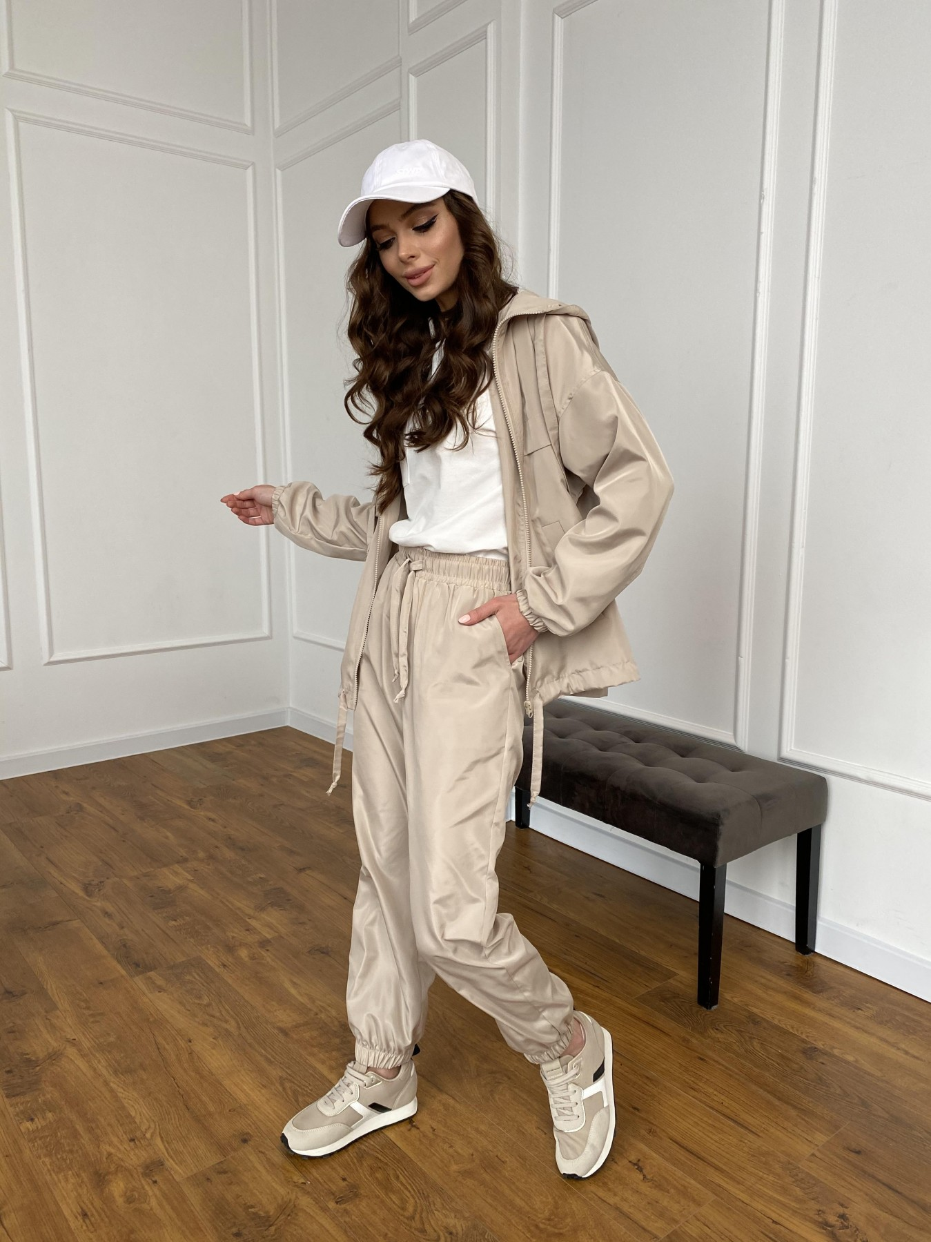 Фит костюм из плащевой ткани 11005 АРТ. 47502 Цвет: Бежевый - фото 15, интернет магазин tm-modus.ru