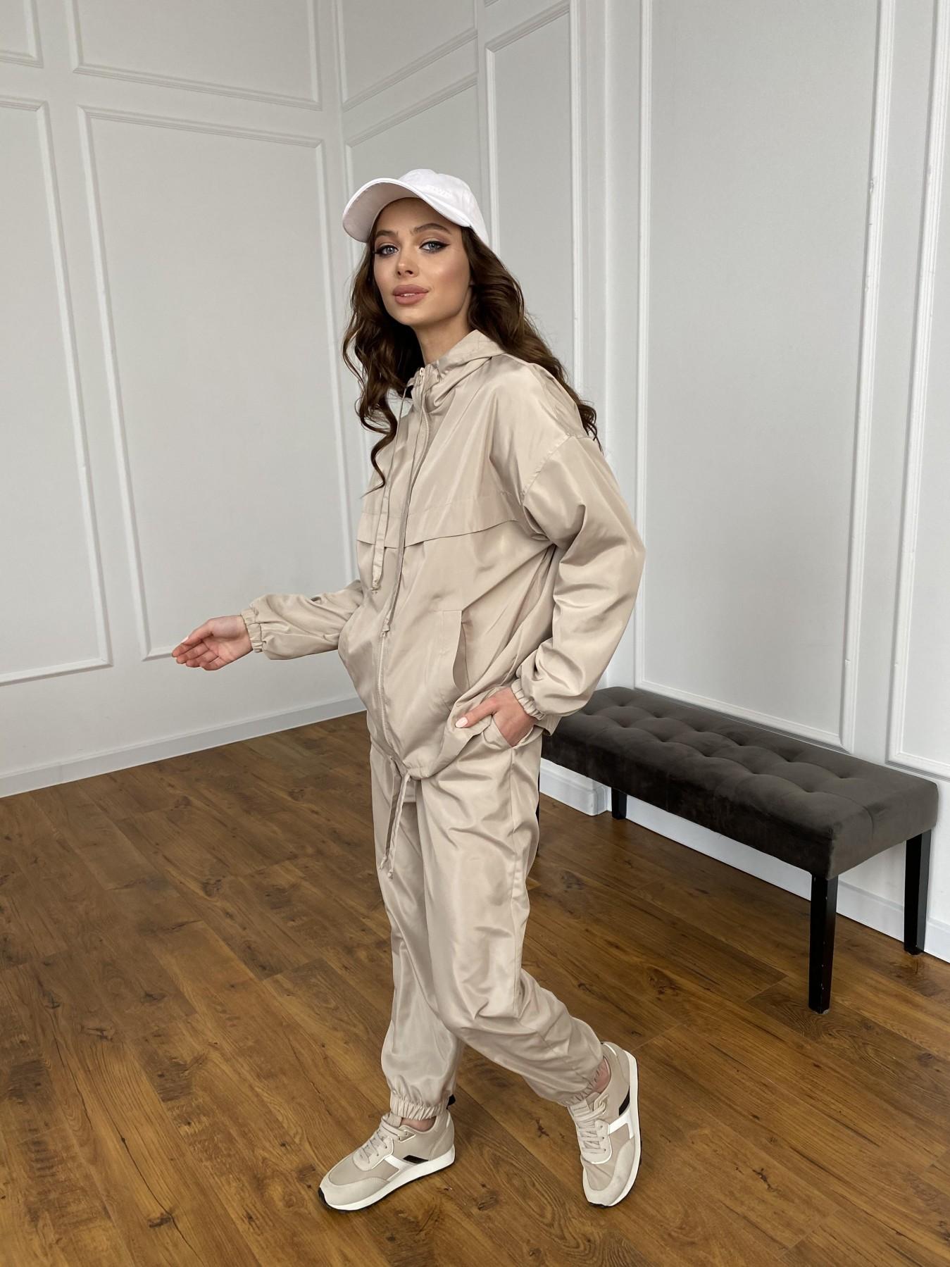 Фит костюм из плащевой ткани 11005 АРТ. 47502 Цвет: Бежевый - фото 18, интернет магазин tm-modus.ru