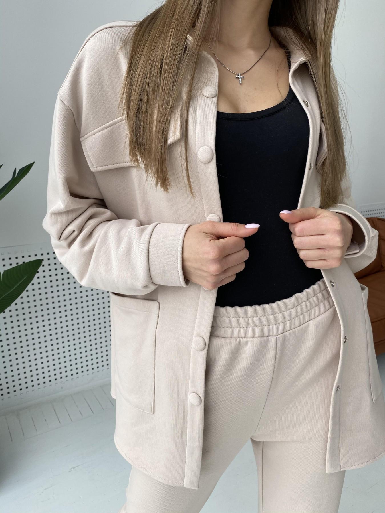Респект костюм из трикотажа  3х нитка 11055 АРТ. 47537 Цвет: Бежевый - фото 3, интернет магазин tm-modus.ru