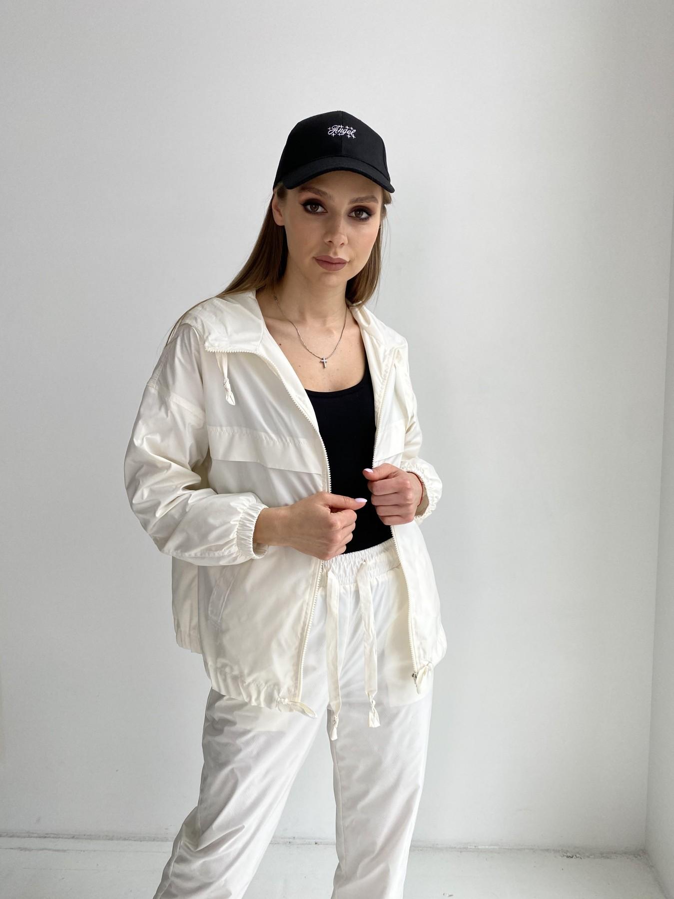Фит костюм из плащевой ткани 11048 АРТ. 47533 Цвет: Молоко - фото 1, интернет магазин tm-modus.ru