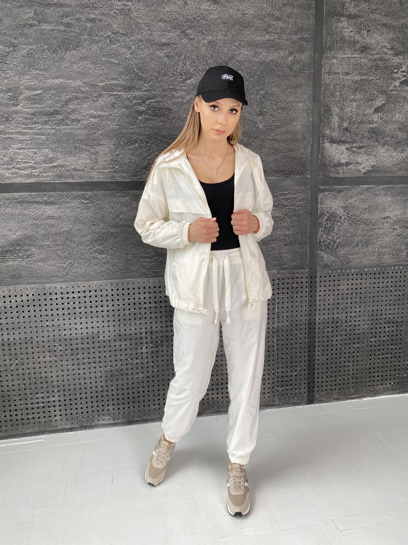 Фит костюм из плащевой ткани 11048 АРТ. 47533 Цвет: Молоко - фото 2, интернет магазин tm-modus.ru