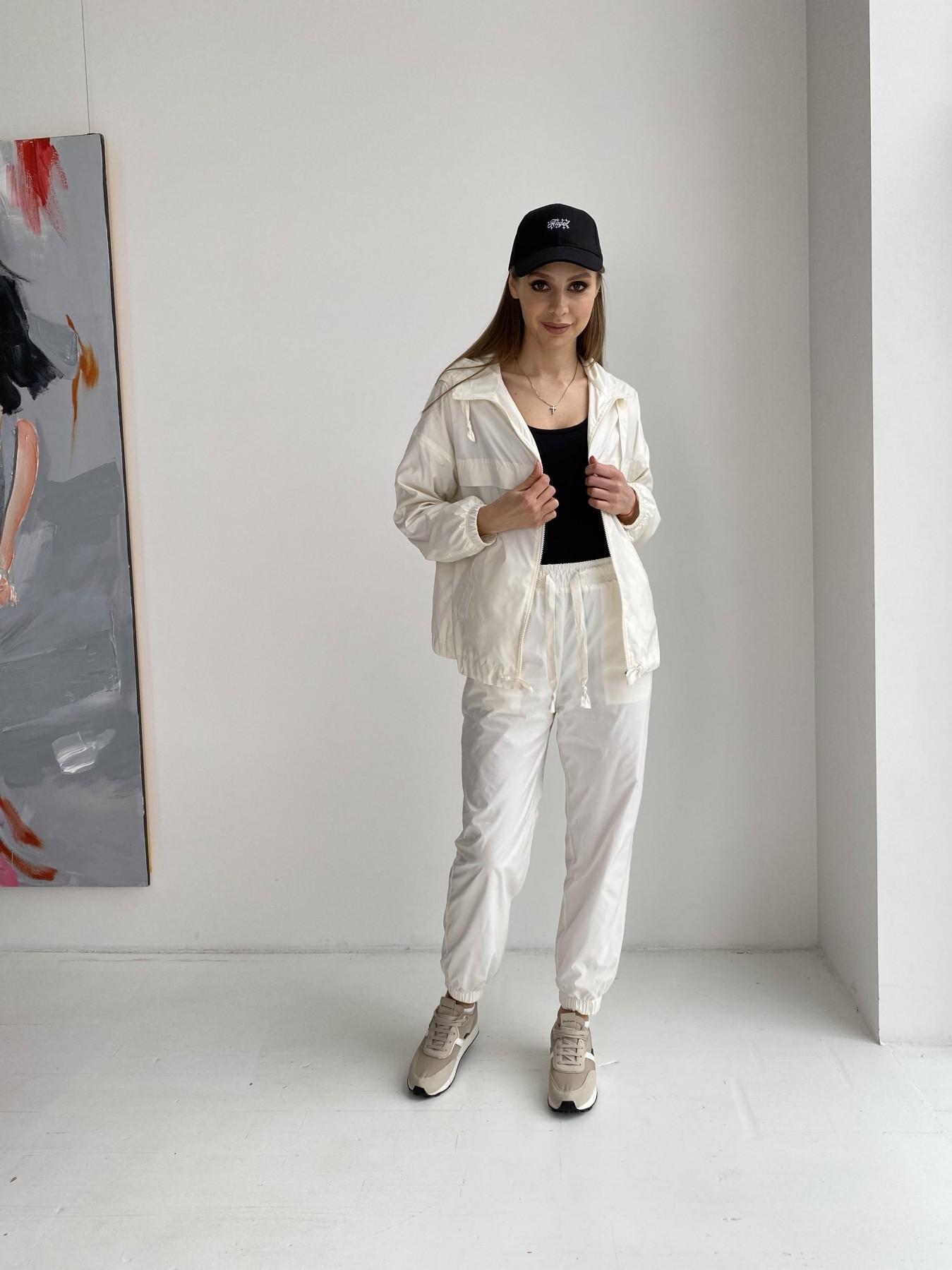 Фит костюм из плащевой ткани 11048 АРТ. 47533 Цвет: Молоко - фото 3, интернет магазин tm-modus.ru