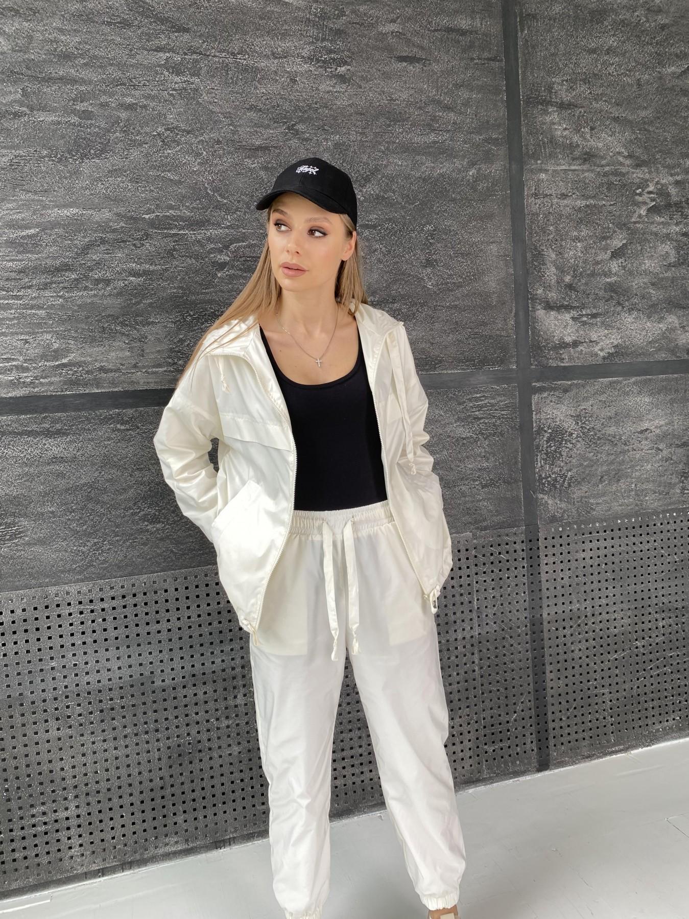 Фит костюм из плащевой ткани 11048 АРТ. 47533 Цвет: Молоко - фото 5, интернет магазин tm-modus.ru