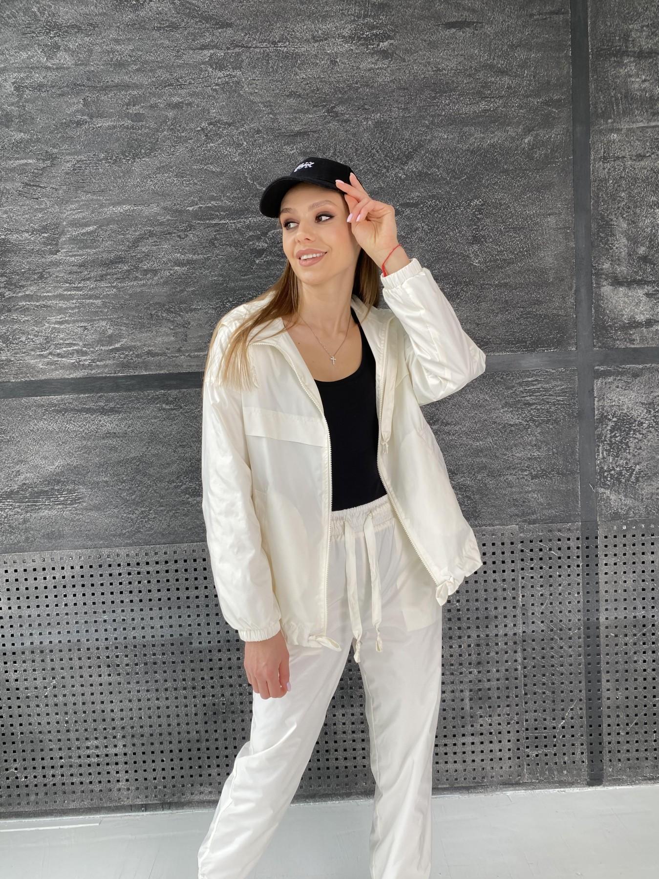 Фит костюм из плащевой ткани 11048 АРТ. 47533 Цвет: Молоко - фото 7, интернет магазин tm-modus.ru