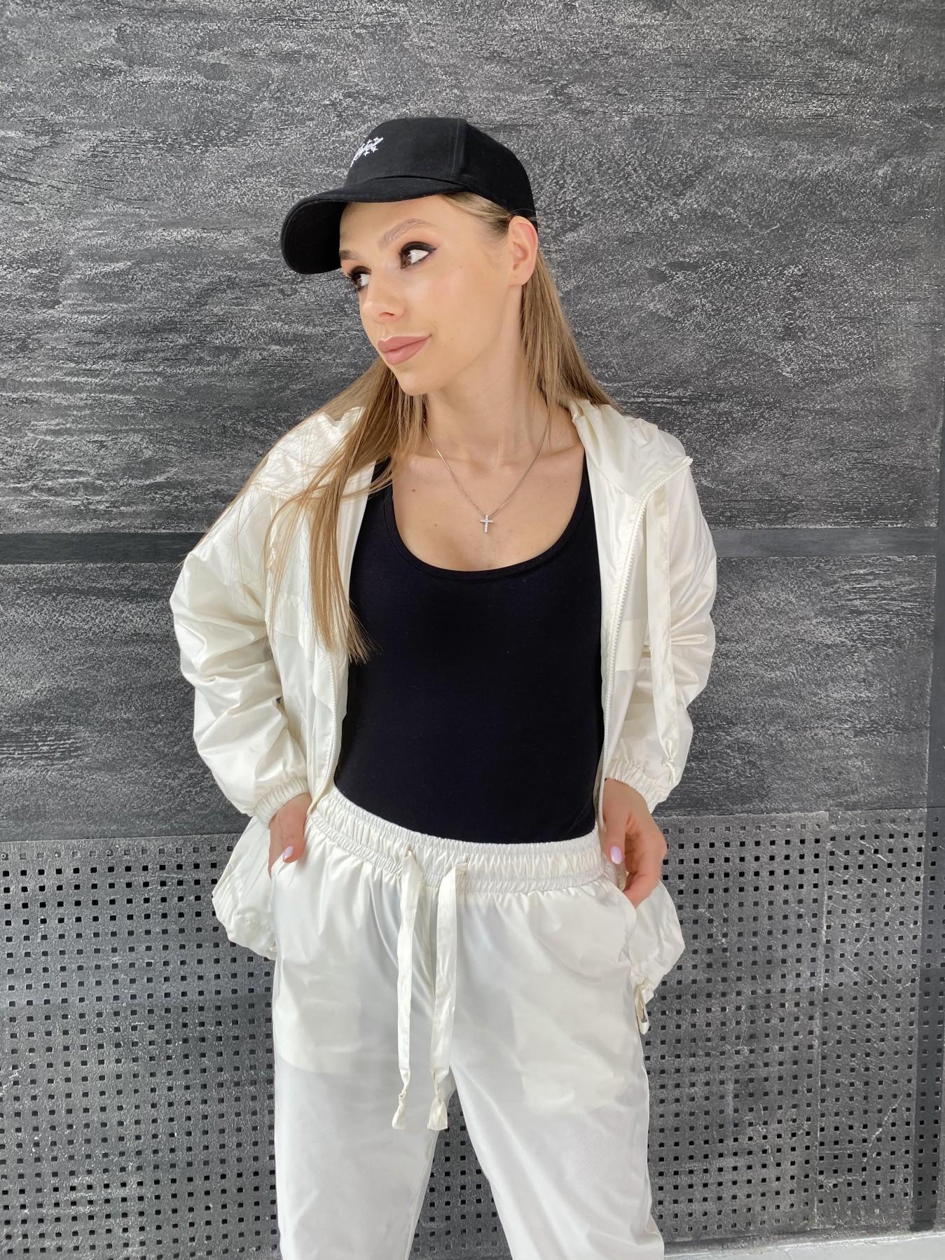 Фит костюм из плащевой ткани 11048 АРТ. 47533 Цвет: Молоко - фото 8, интернет магазин tm-modus.ru