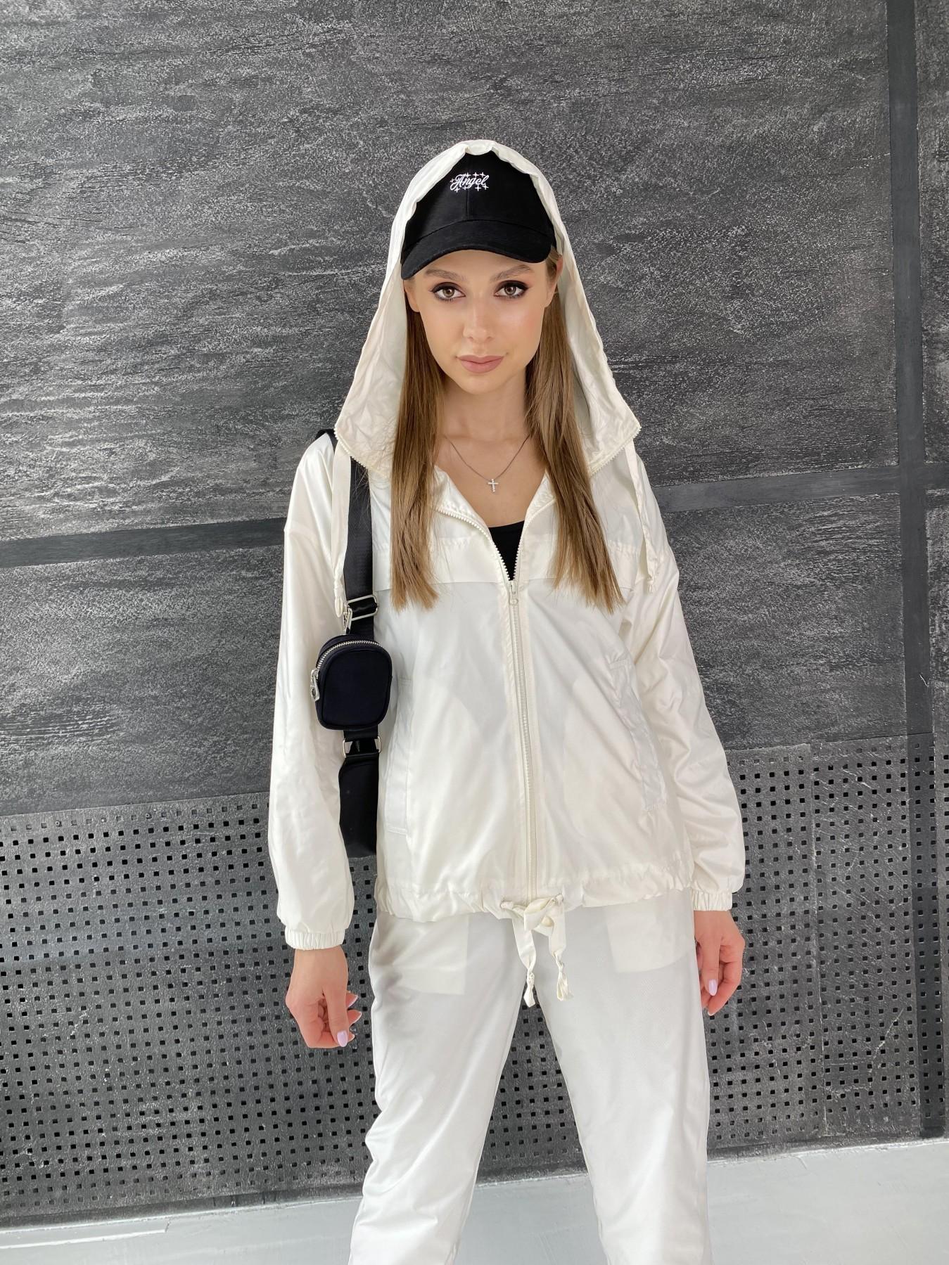 Фит костюм из плащевой ткани 11048 АРТ. 47533 Цвет: Молоко - фото 9, интернет магазин tm-modus.ru