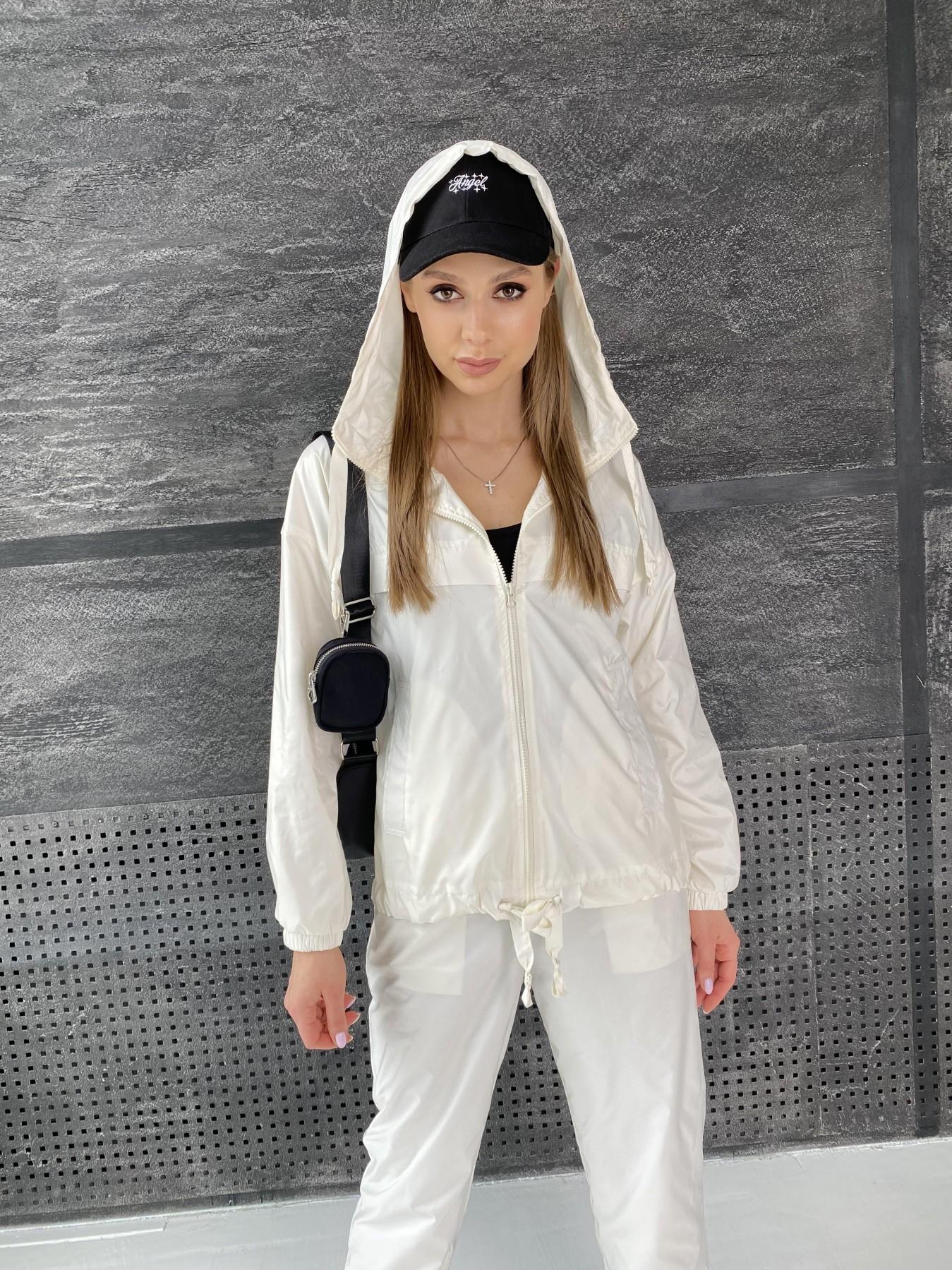 Фит костюм из плащевой ткани 11048 АРТ. 47533 Цвет: Молоко - фото 10, интернет магазин tm-modus.ru