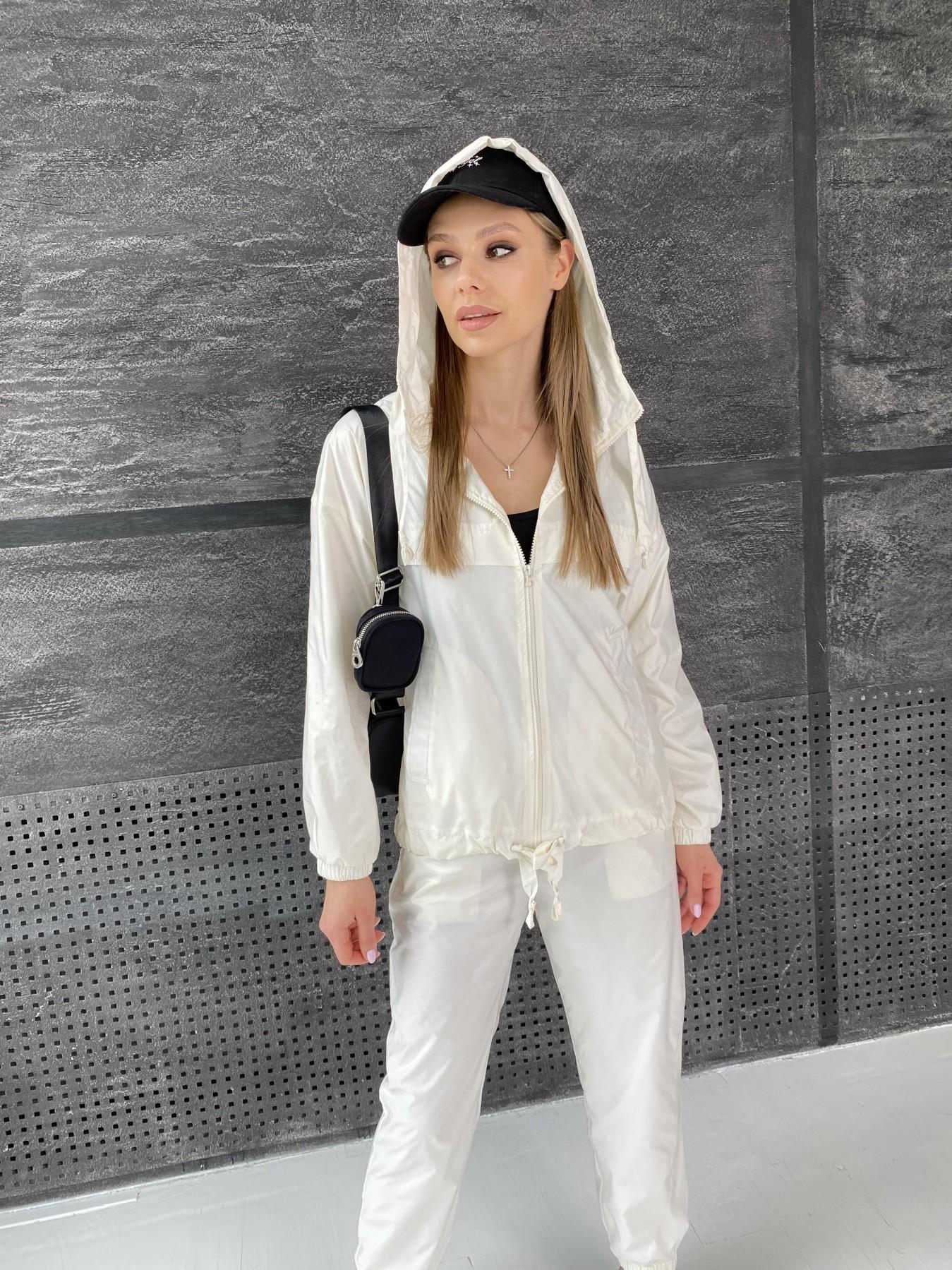 Фит костюм из плащевой ткани 11048 АРТ. 47533 Цвет: Молоко - фото 11, интернет магазин tm-modus.ru