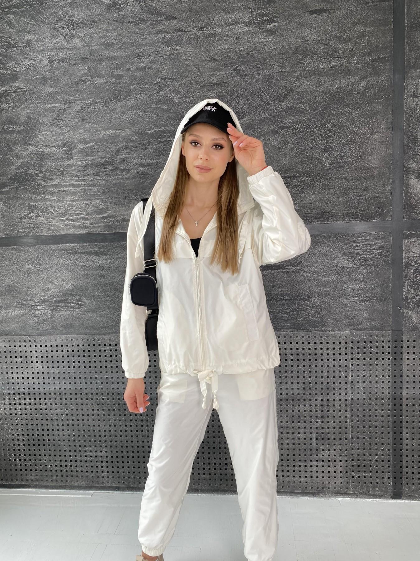 Фит костюм из плащевой ткани 11048 АРТ. 47533 Цвет: Молоко - фото 12, интернет магазин tm-modus.ru