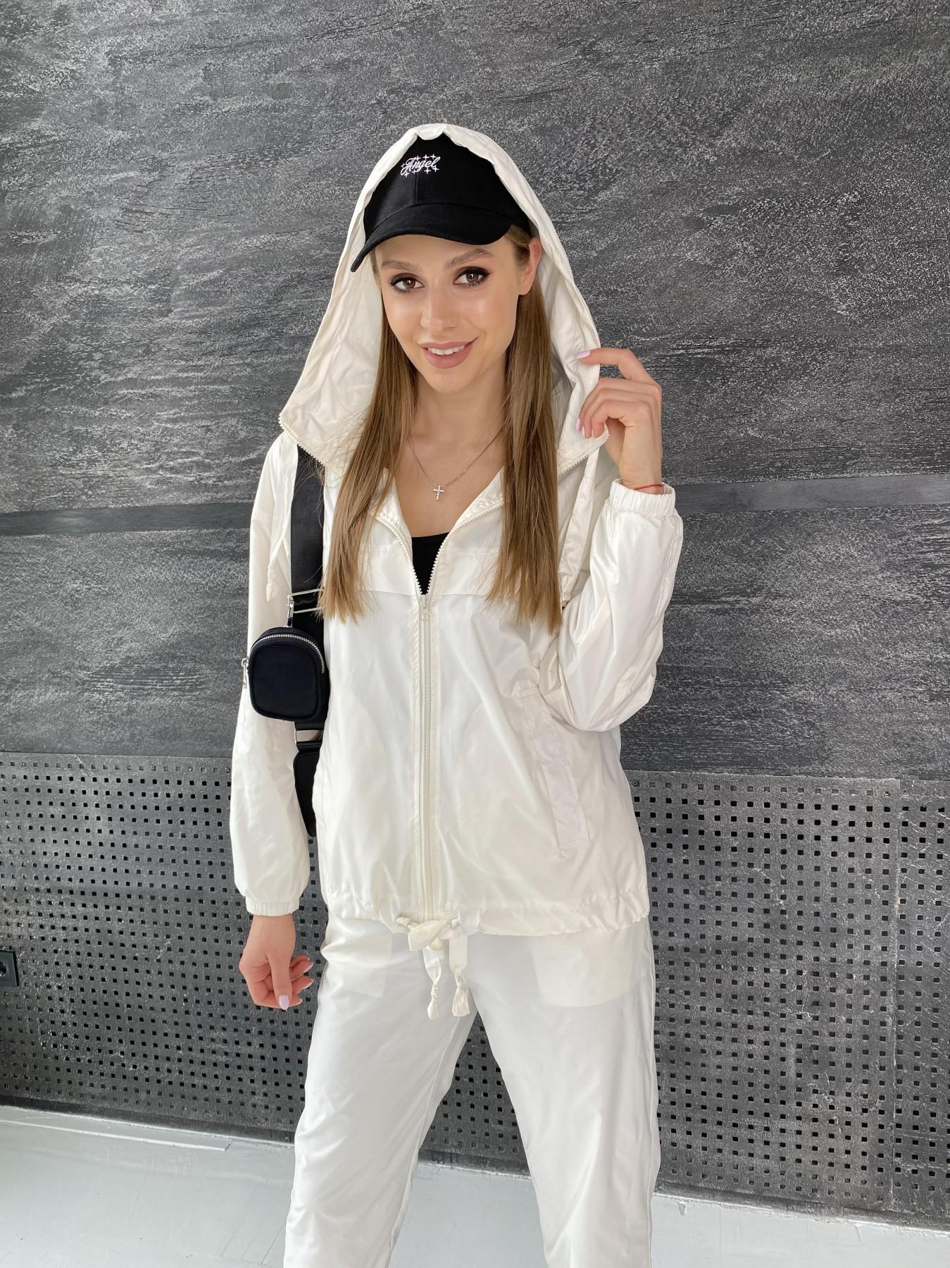Фит костюм из плащевой ткани 11048 АРТ. 47533 Цвет: Молоко - фото 13, интернет магазин tm-modus.ru